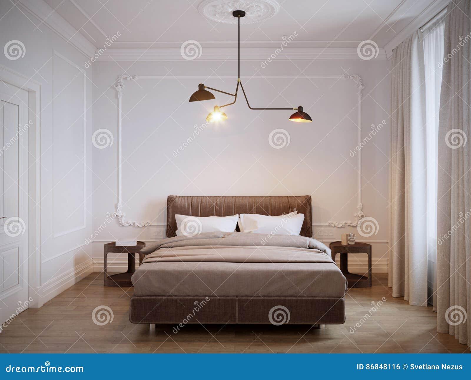Interior design moderno luminoso e accogliente della for Design della camera da letto