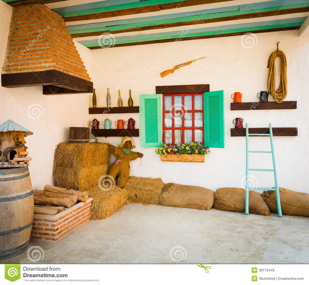 Interior Design Of An Old Country House Stock Photo Part 37