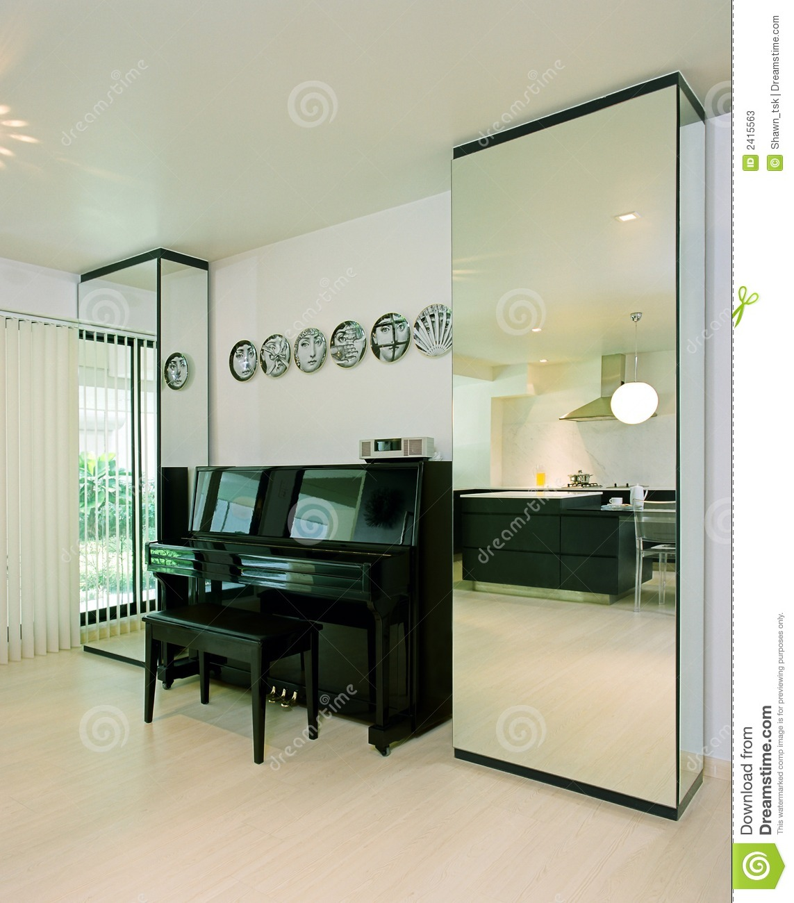 Interior Design Piano Stock Image Image Of Architecture