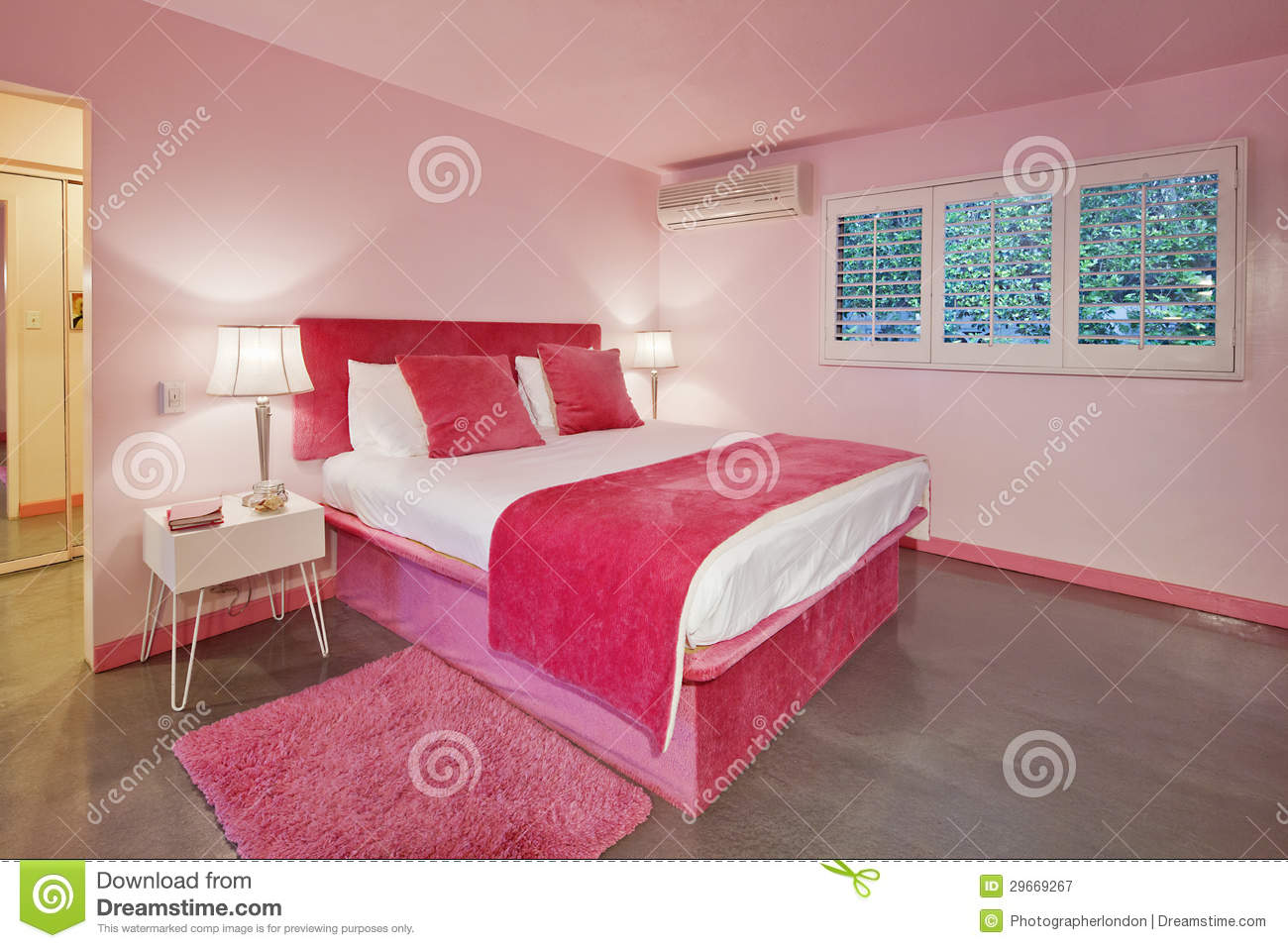 Bedroom Design Interior Pink