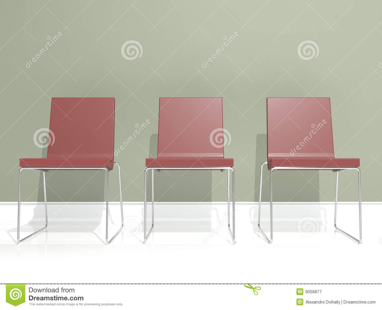 Interior design red chair royalty free stock photography - Red and green interior design ...