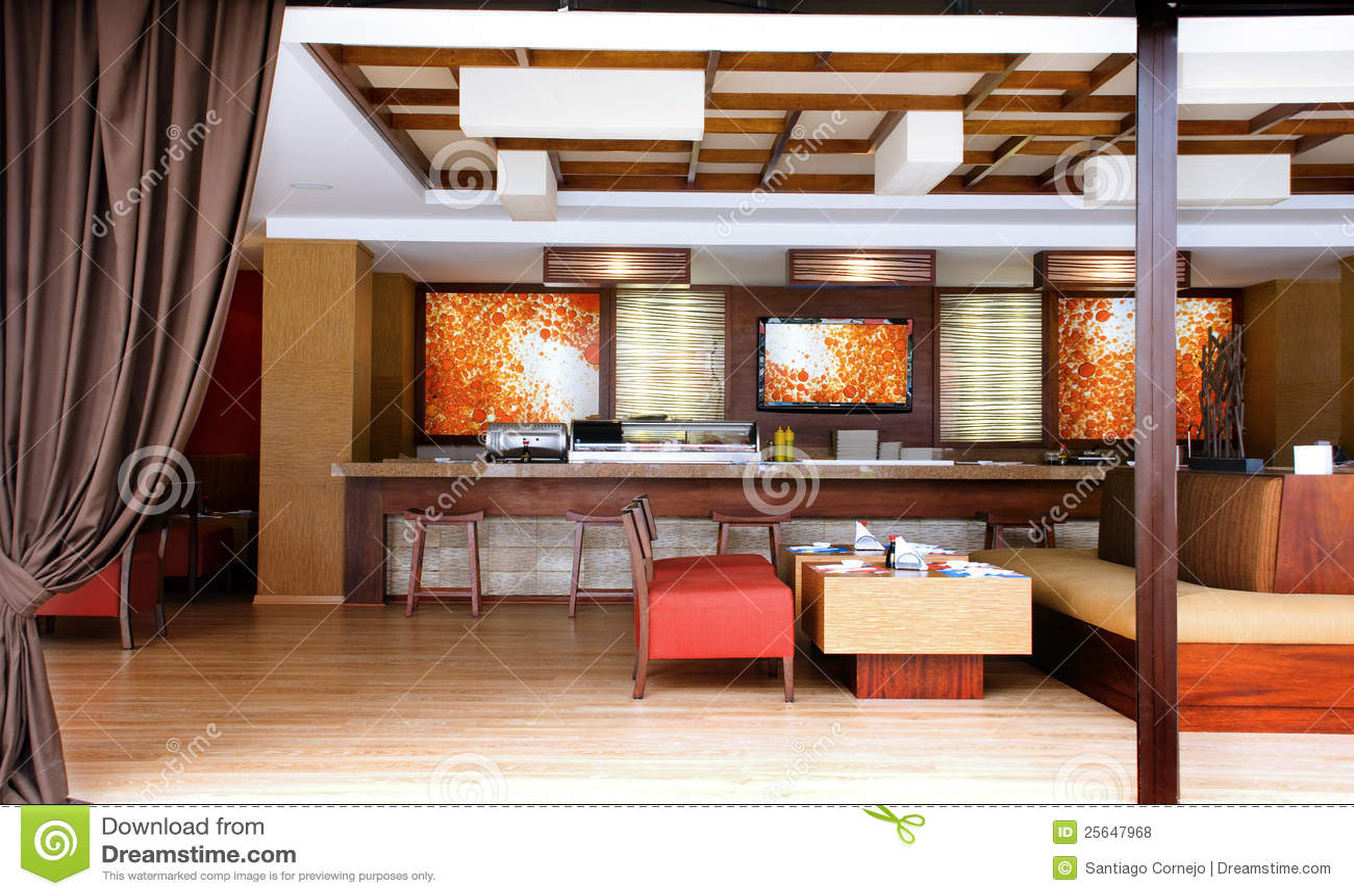 Interior Design Restaurant Royalty Free Stock Photos Image 25647968