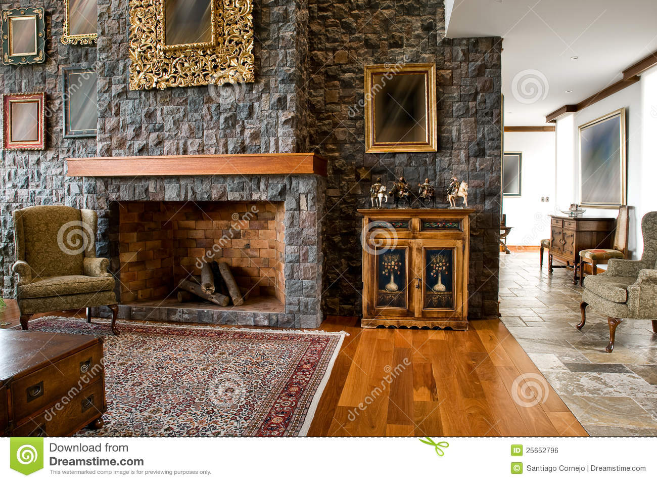 Interior Design Series Classic Living Room Royalty Free Stock Image