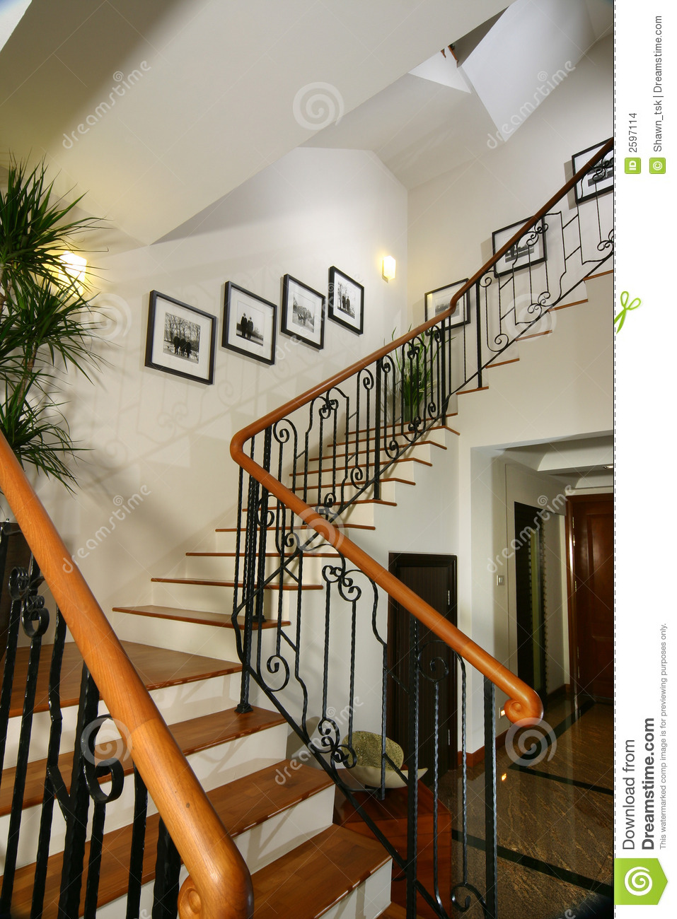 Interior Design Stairs Stock Images Image 2597114