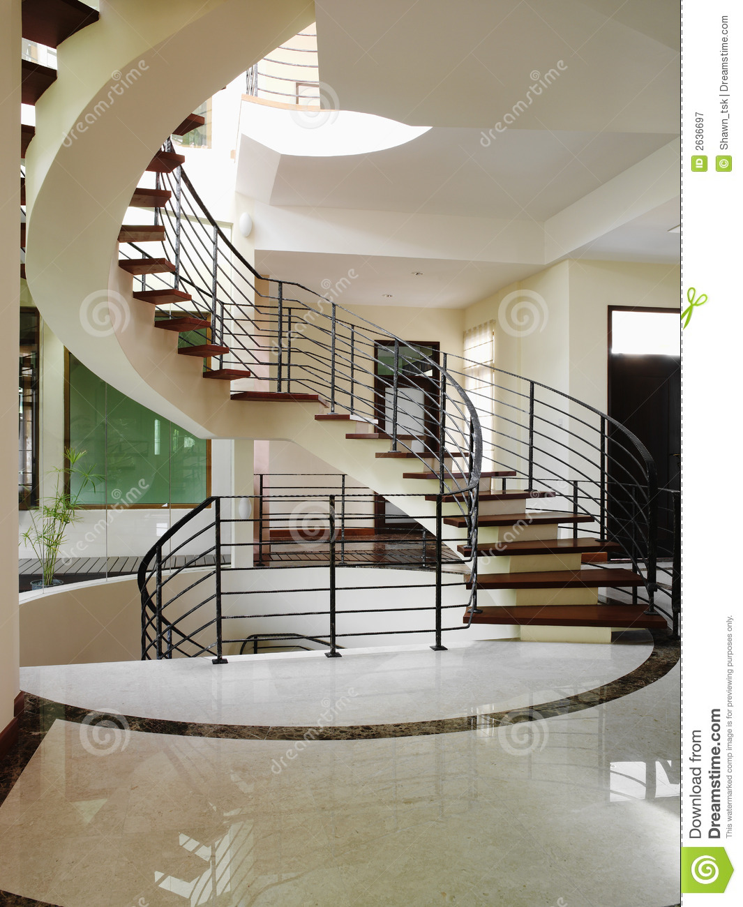 Interior design stairs stock image image of floor landscape 2636697 - Modern interior design with spiral stairs contemporary spiral staircase design ...