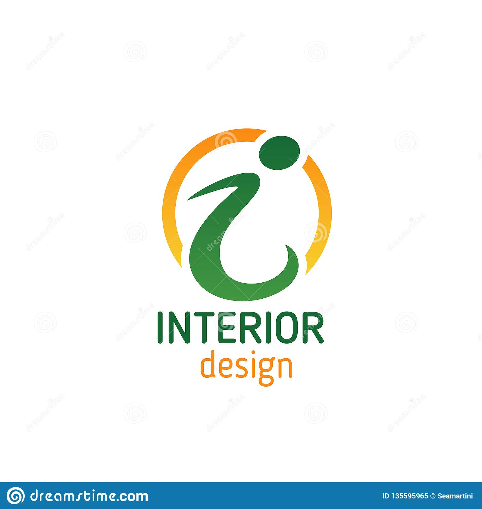 Interior Design Emblem For Business Card Template Stock Vector Illustration Of Alphabet Isolated 135595965