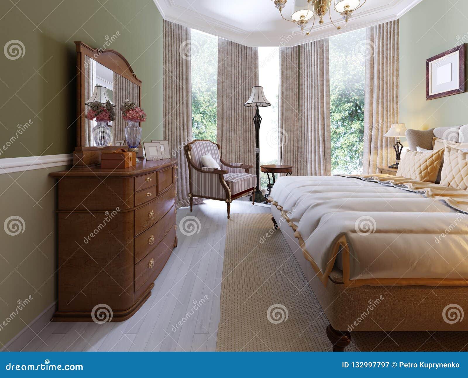 Interior design tradizionale classico moderno della camera for Camera da letto interior design