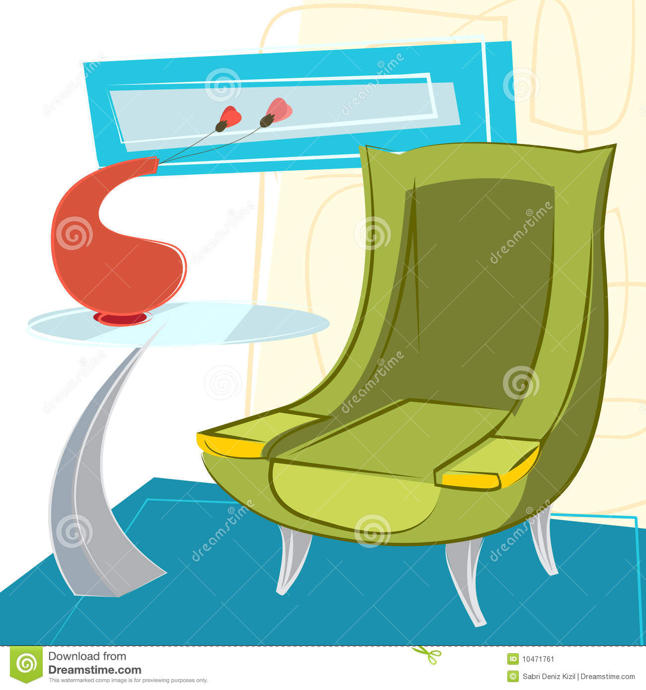 Interior design vector stock image image 10471761 for Interior design images vector