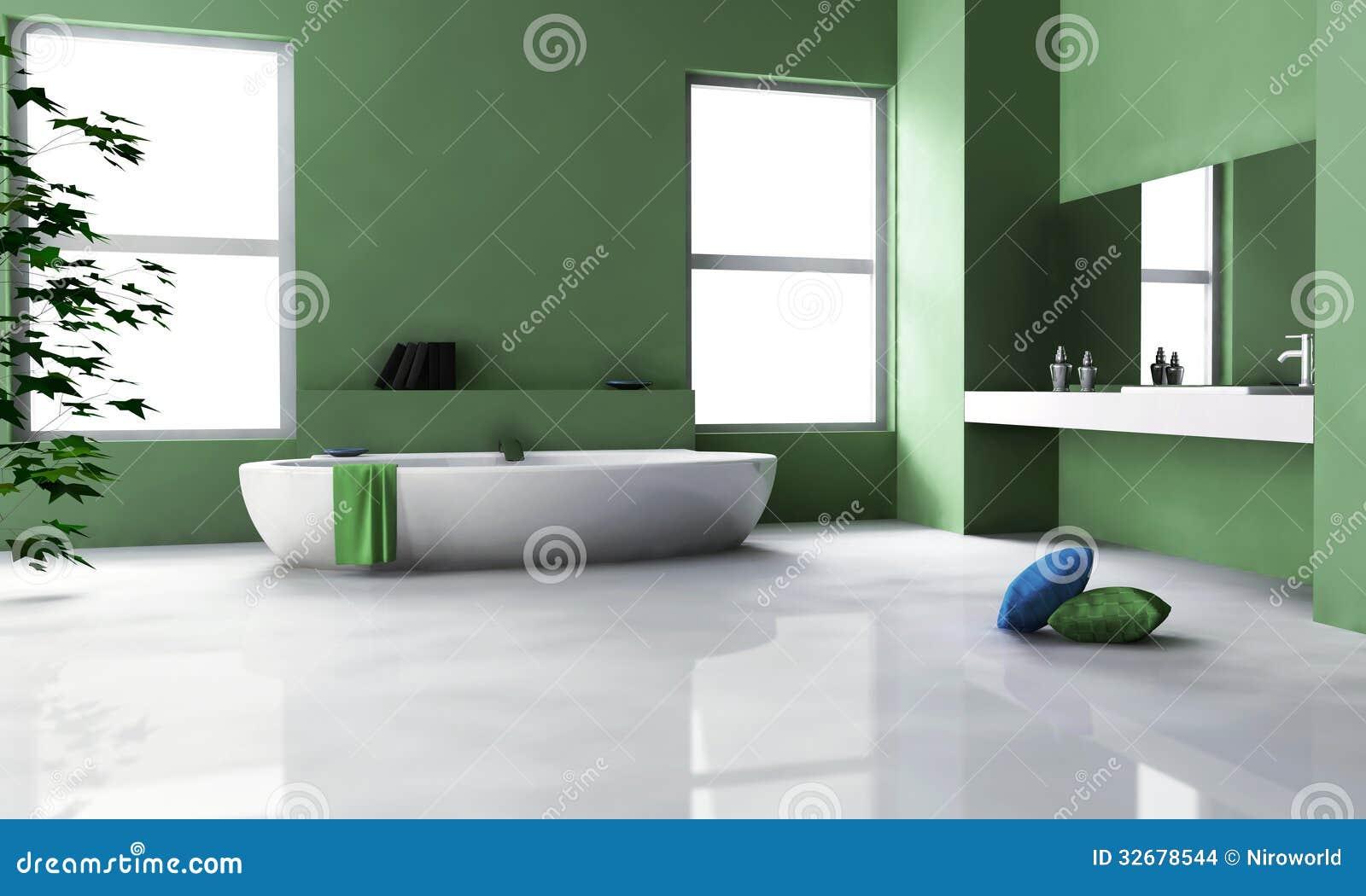 Interior Design Verde Del Bagno Immagini Stock - Immagine: 32678544