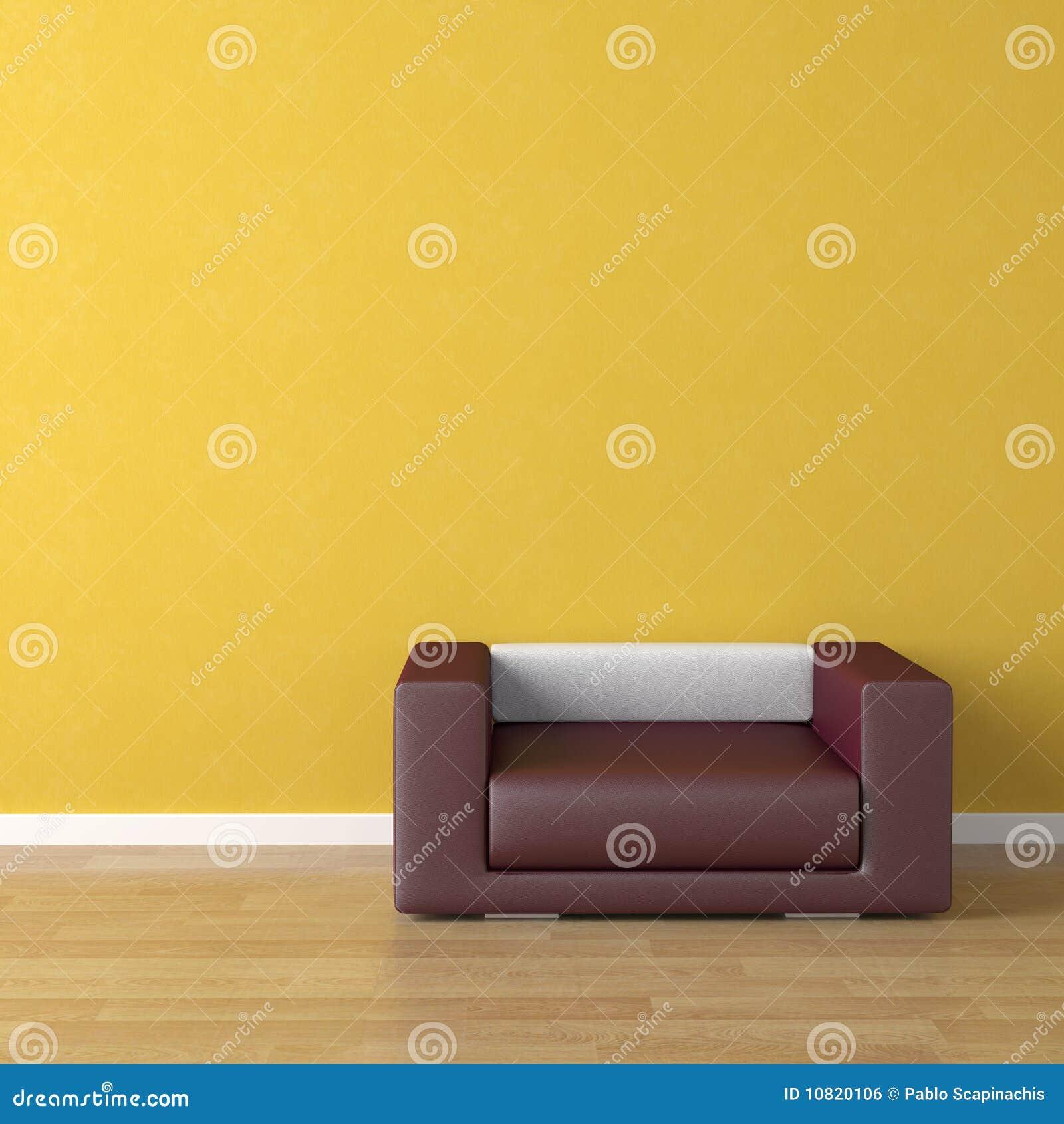 Interior design violet couch on