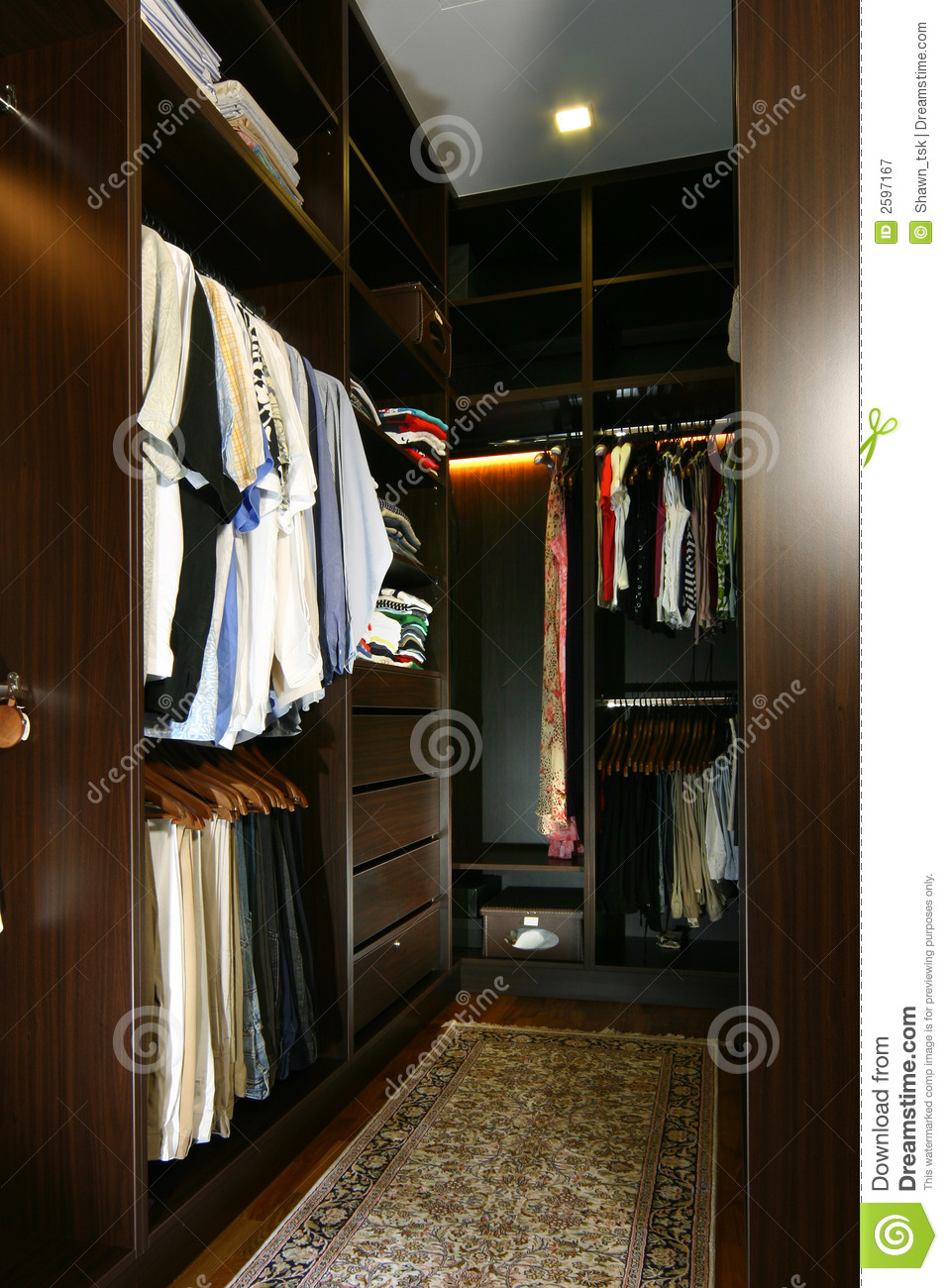 Interior Design Wardrobe Royalty Free Stock Photography