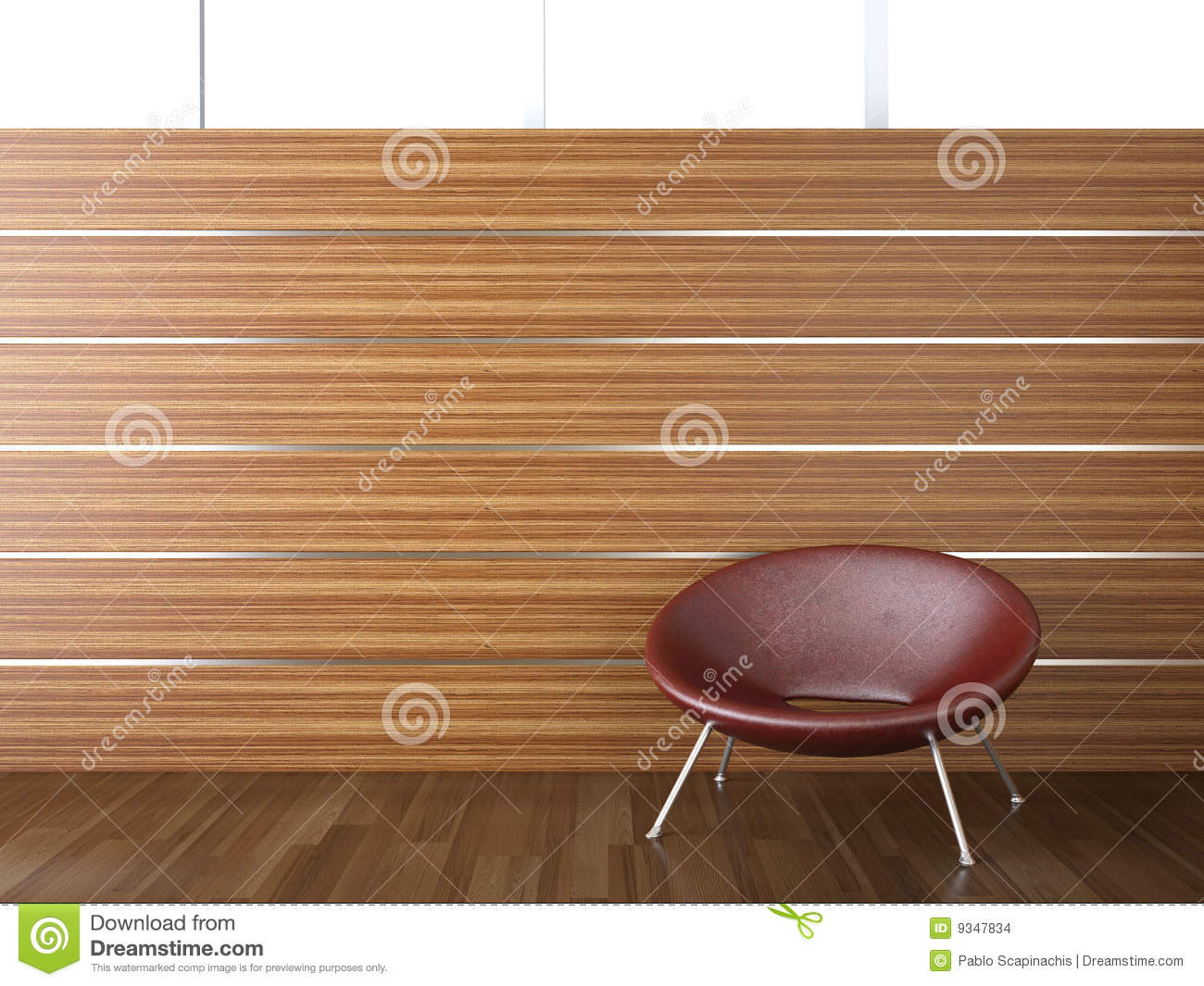 Interior Design Wood Wall Stock Images Image 9347834