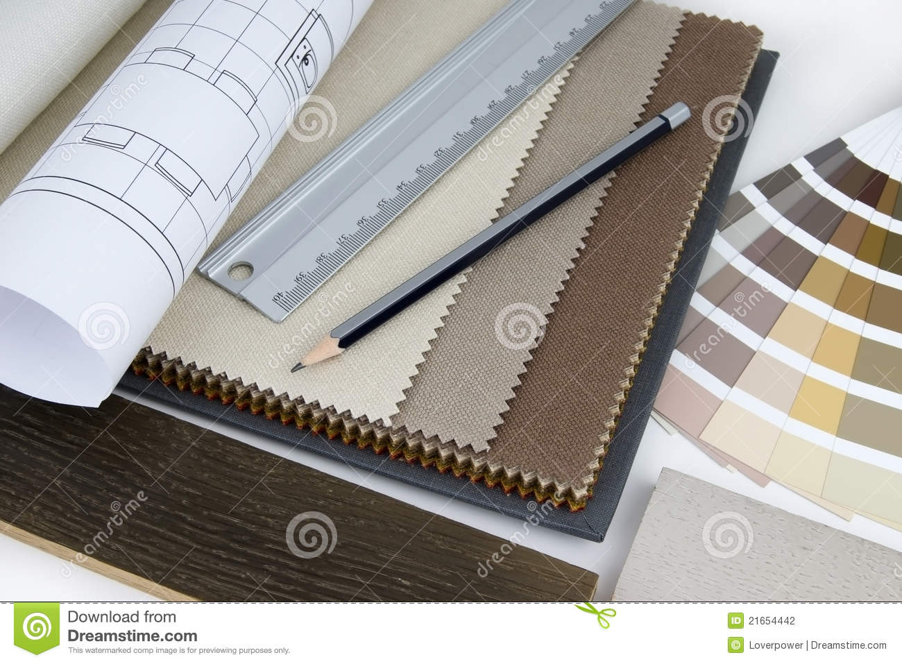 Interior Designers At Work interior design worktable stock photography - image: 21654442