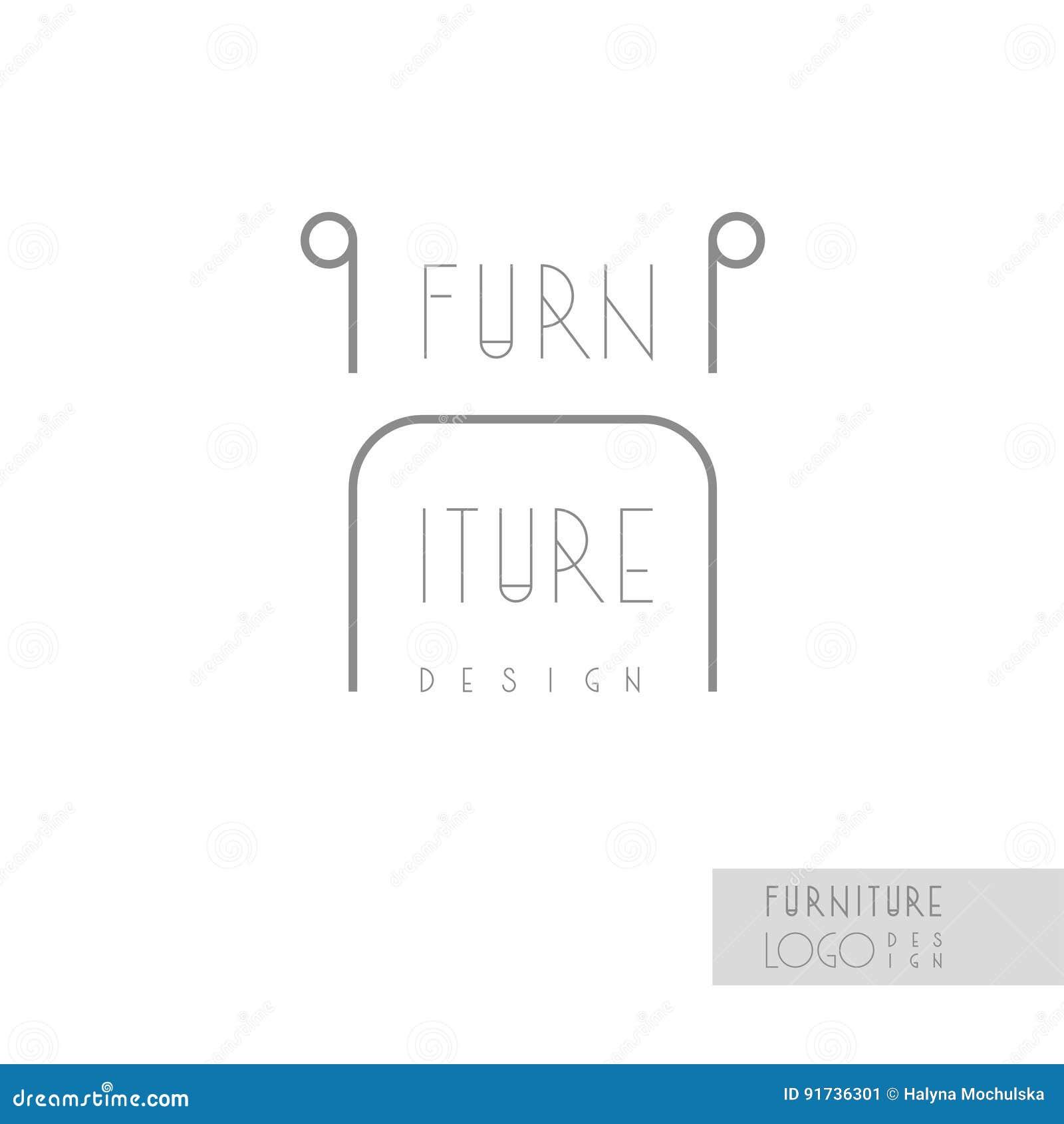 Interior Designer Brand Identity Chair Line Logo Business Card - Interior design business cards templates free