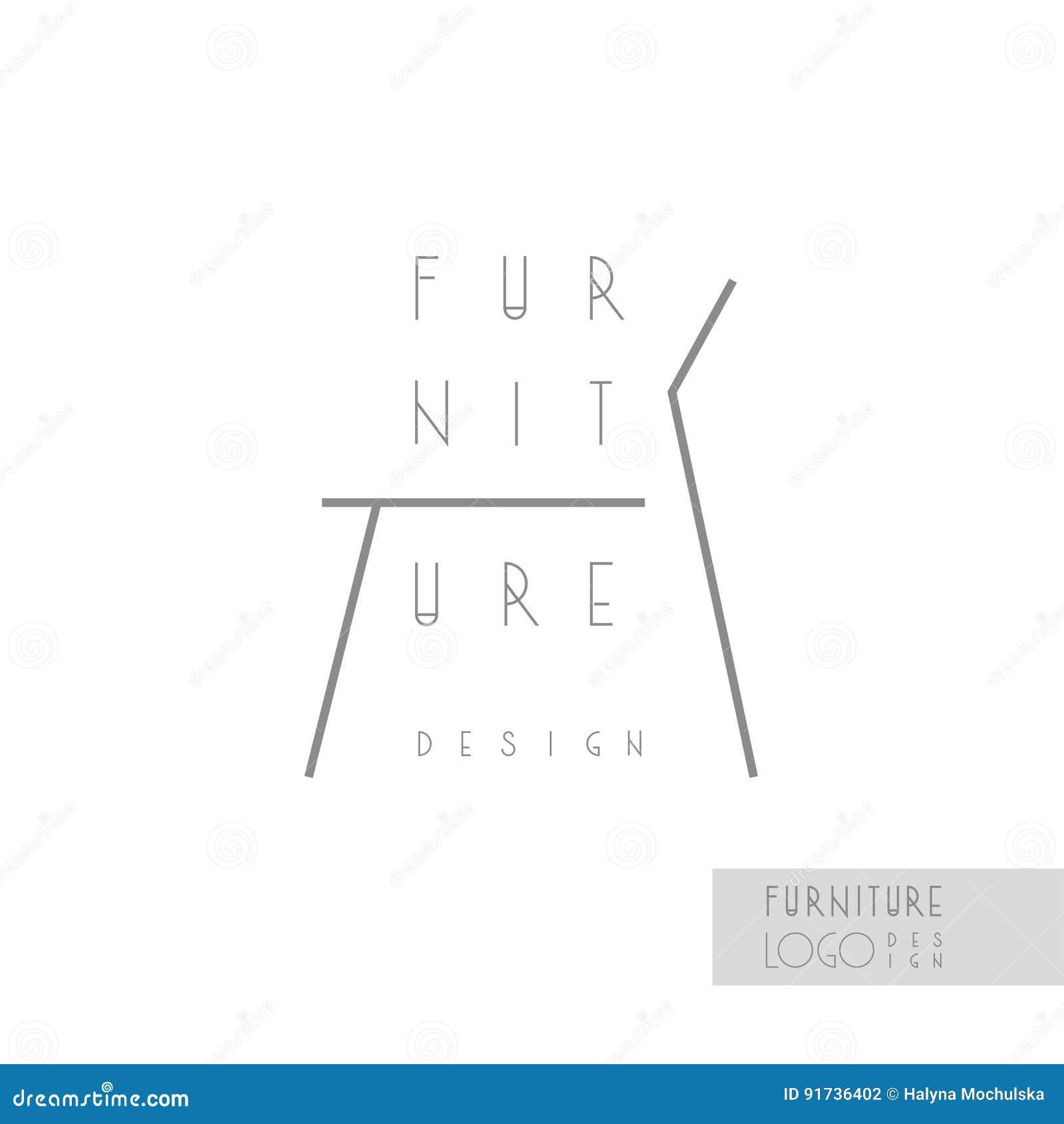 Line Card Examples: Interior Designer Brand Identity. Chair Line Logo