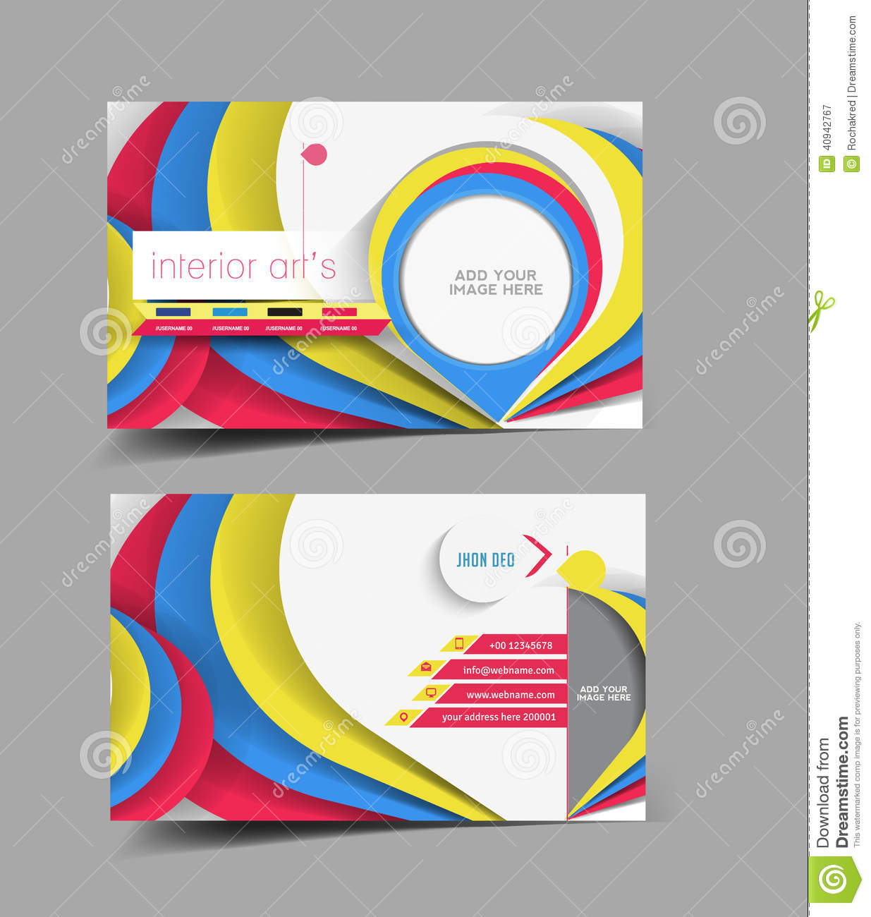 Interior Designer Business Card Stock Vector - Image: 40942767
