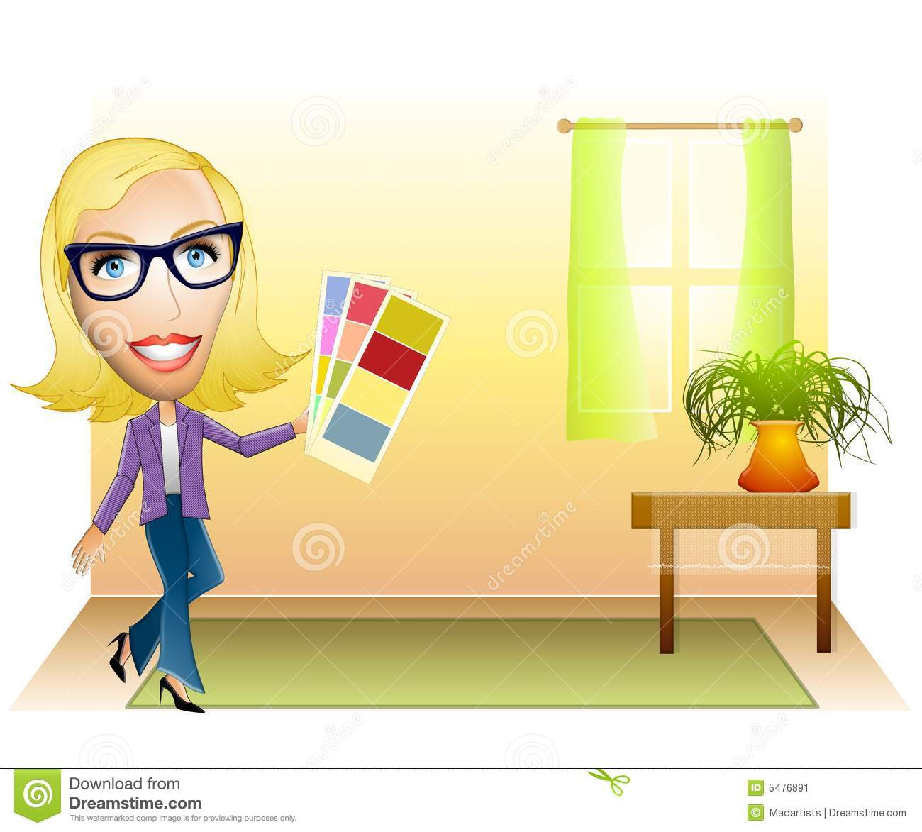 Interior designer color samples stock illustration image for Image of interior design