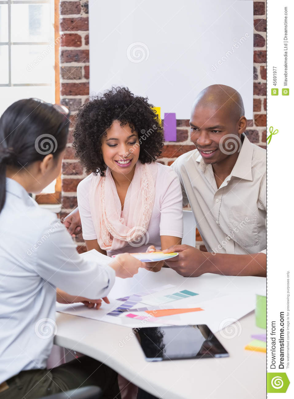 Interior Designers With Clients Interior Designer Speaking With Clients Stock Photo  Image 45691977
