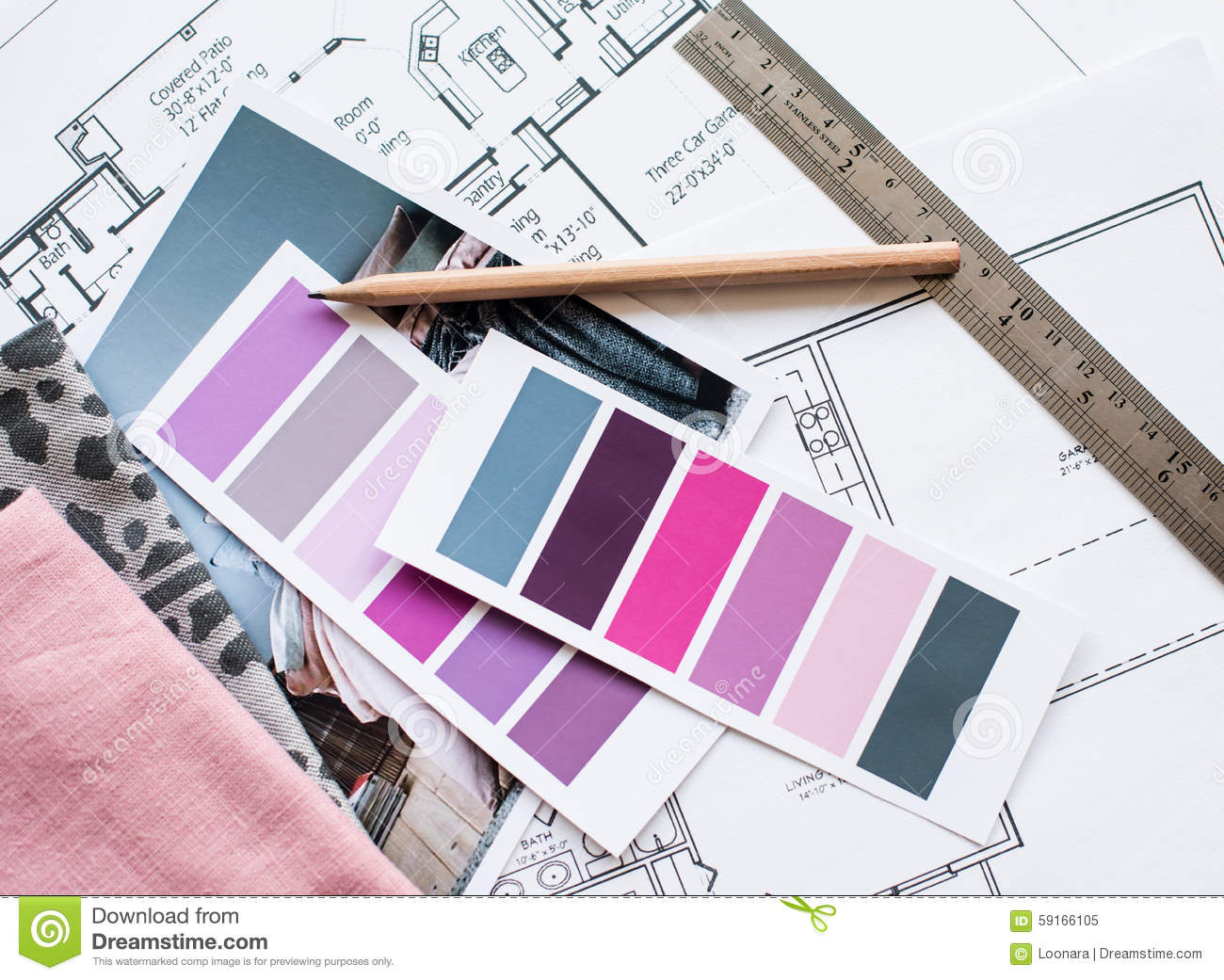 interior designers working table stock photo image 59166105