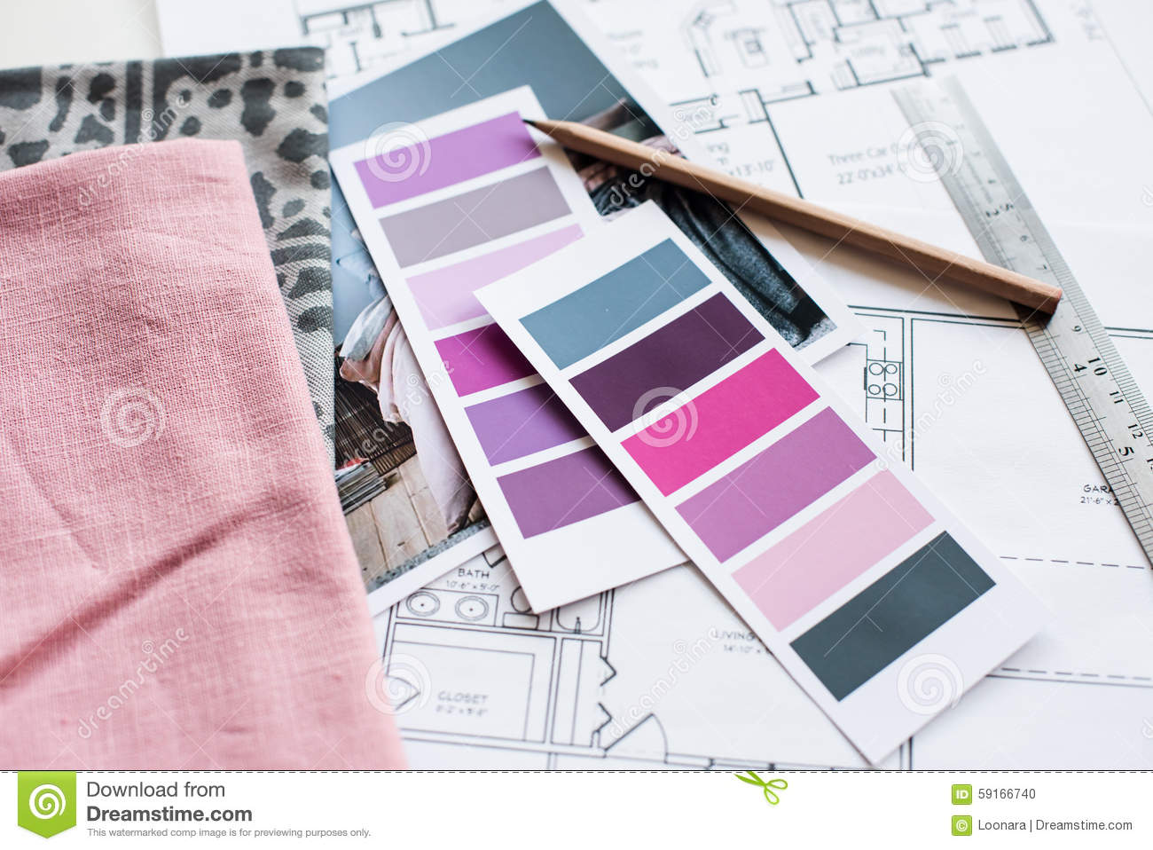 Interior Designers Working Table Stock Photo - Image of decoration ...