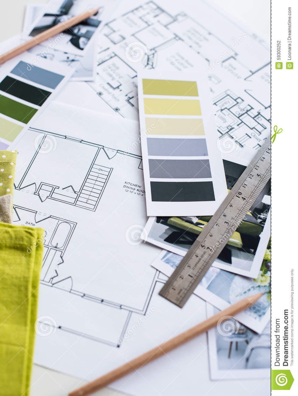 interior designers working table stock photo image 59300252