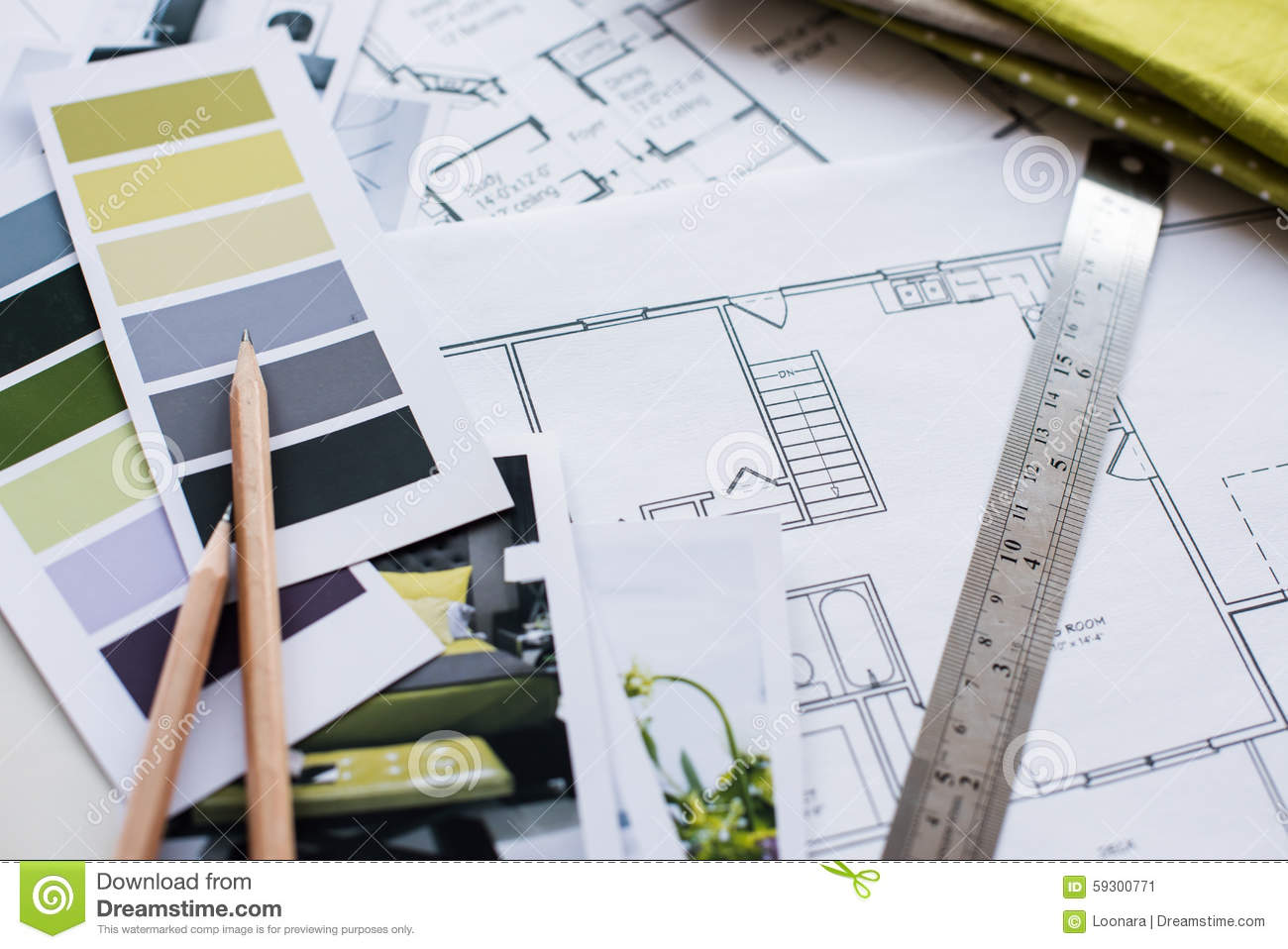 interior designers working table stock photo image 59300771