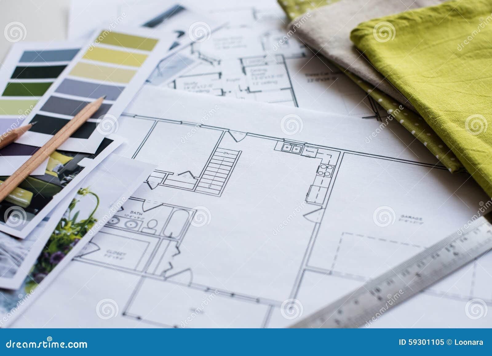 Room Planner Program Interior Designers Working Table Stock Photo Image 59301105