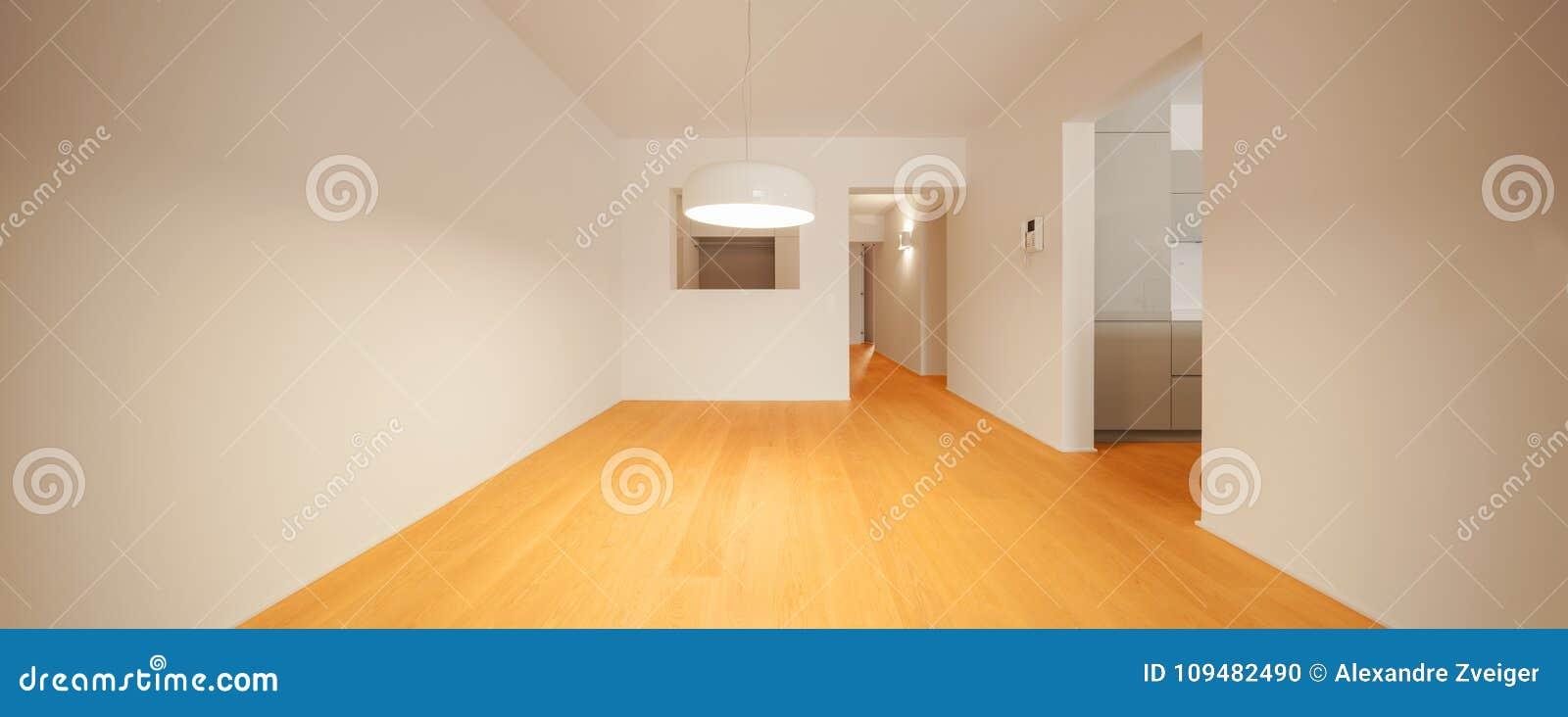 Interior do apartamento moderno, sala vazia