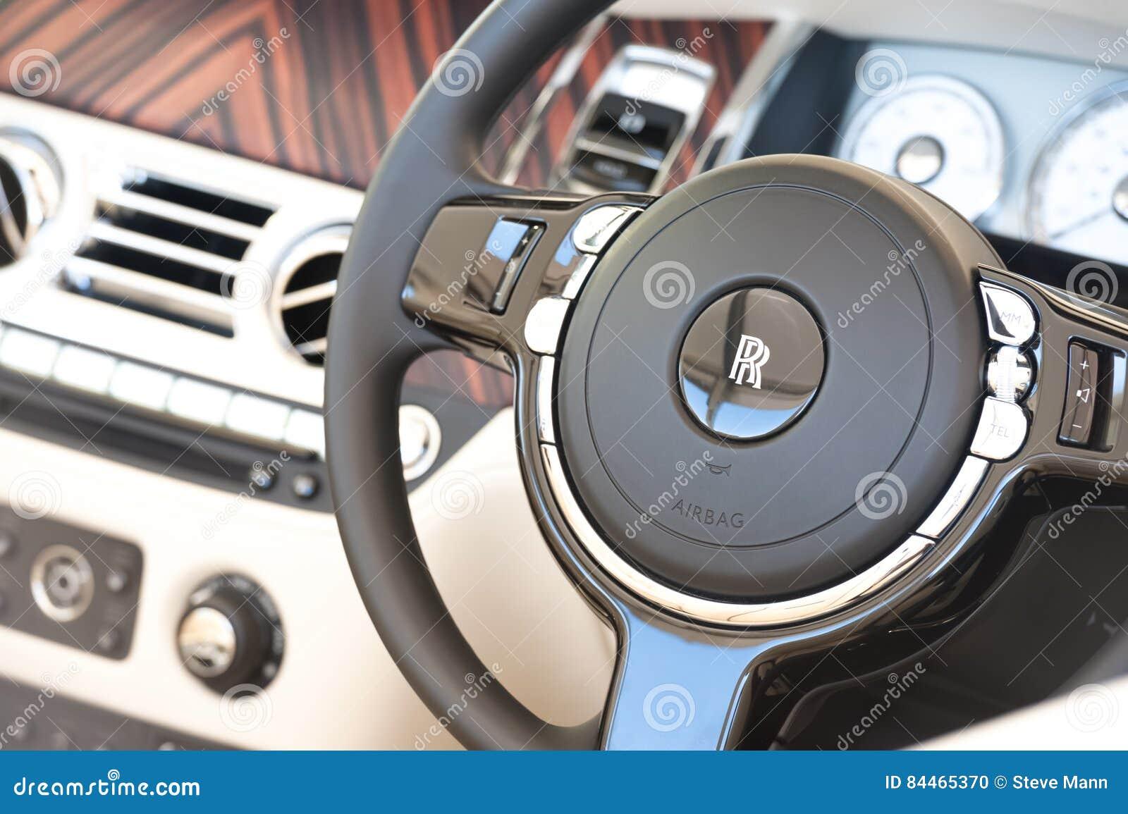 Interior do veículo de Rolls Royce