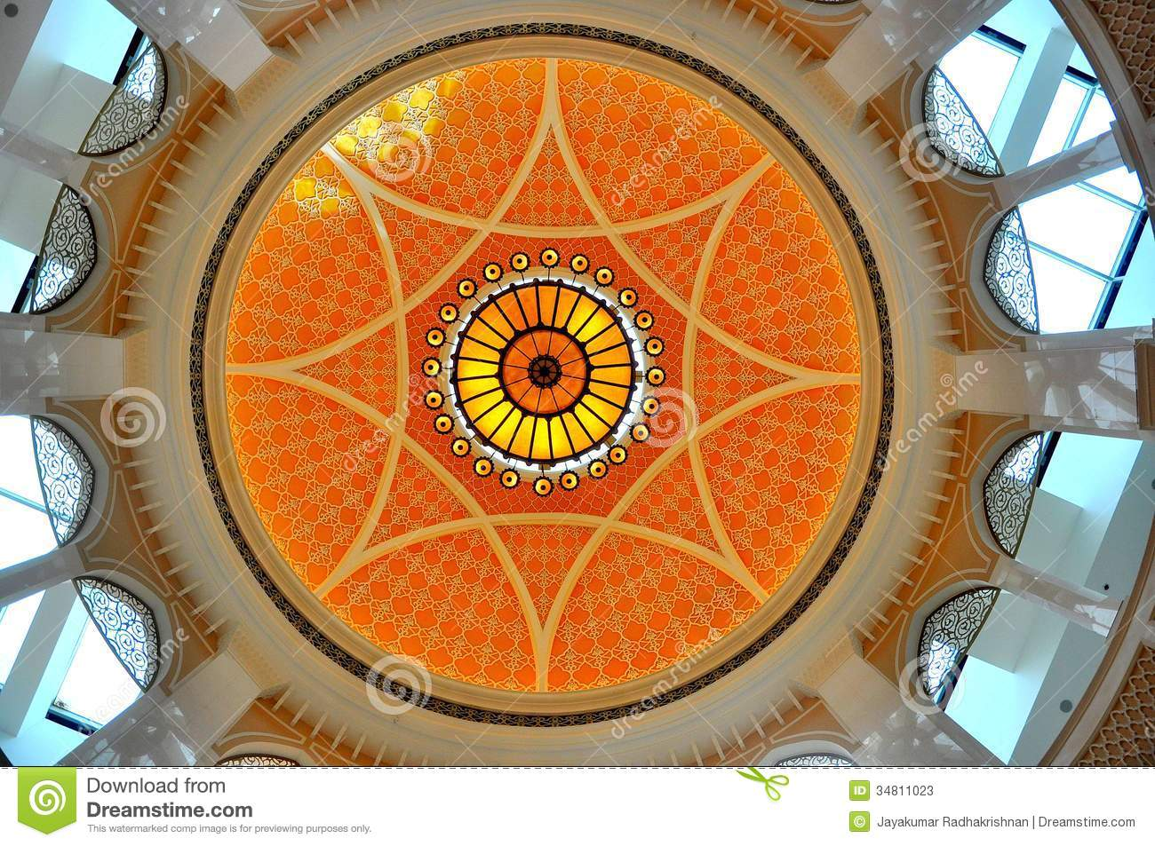 Interior Dome Design In Dubai Mall Stock Image Image