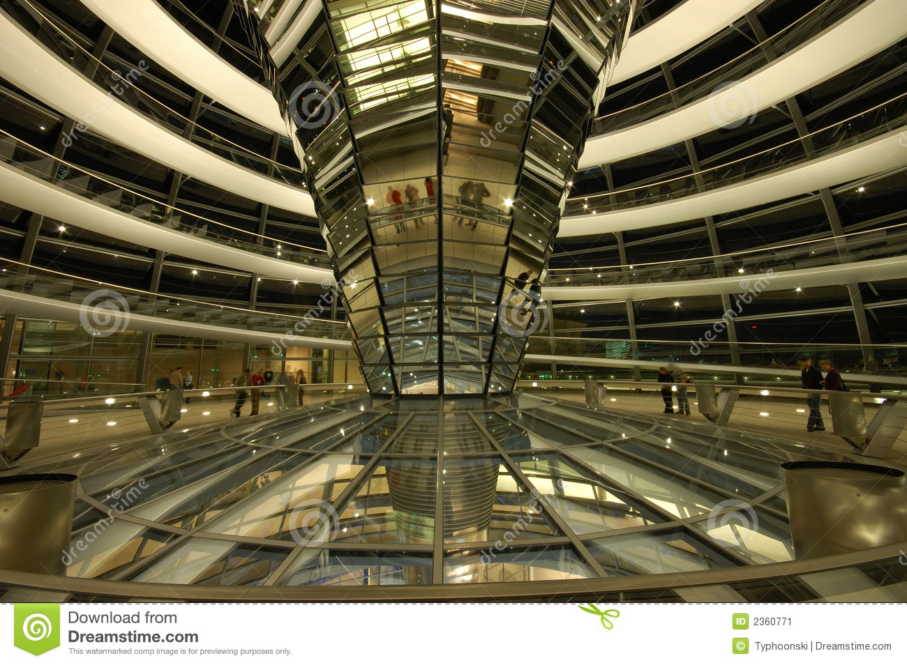interior dome reichstag berlin stock image image 2360771. Black Bedroom Furniture Sets. Home Design Ideas