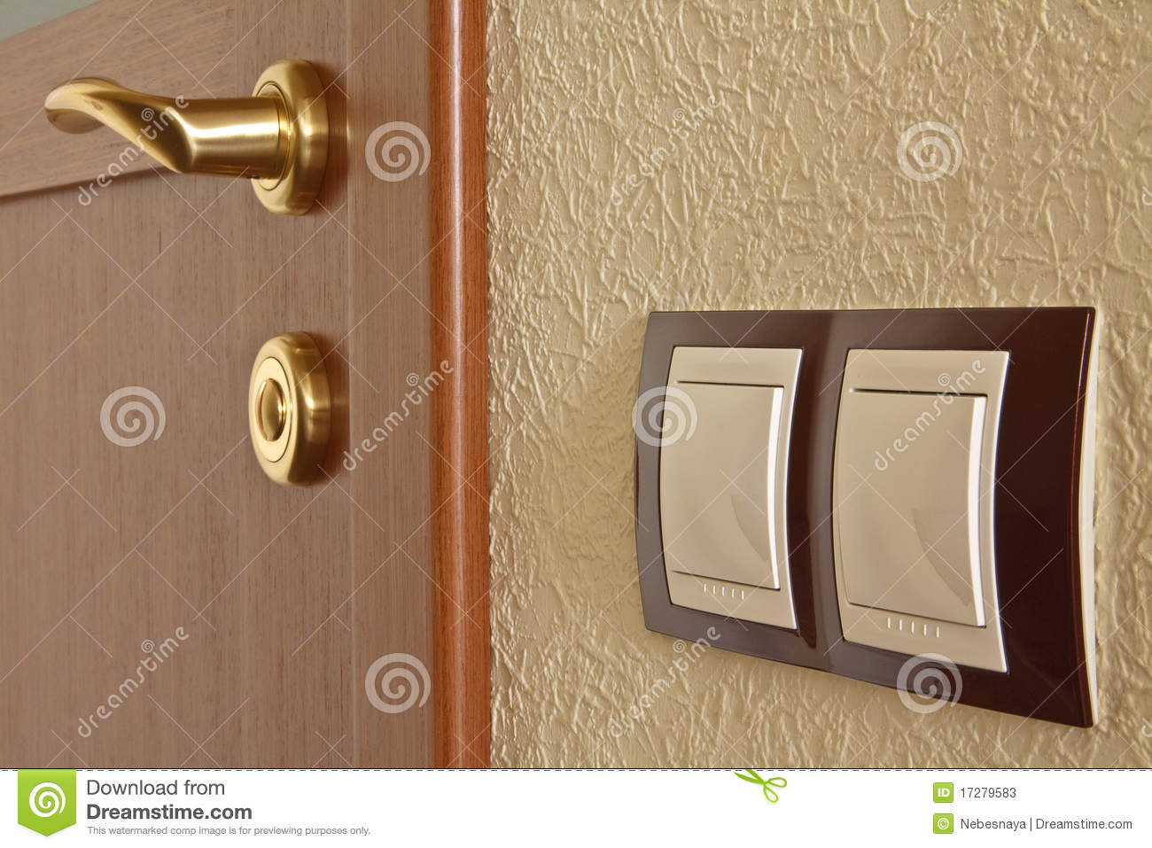 Interior Door And Light Switch Stock Photos Image 17279583