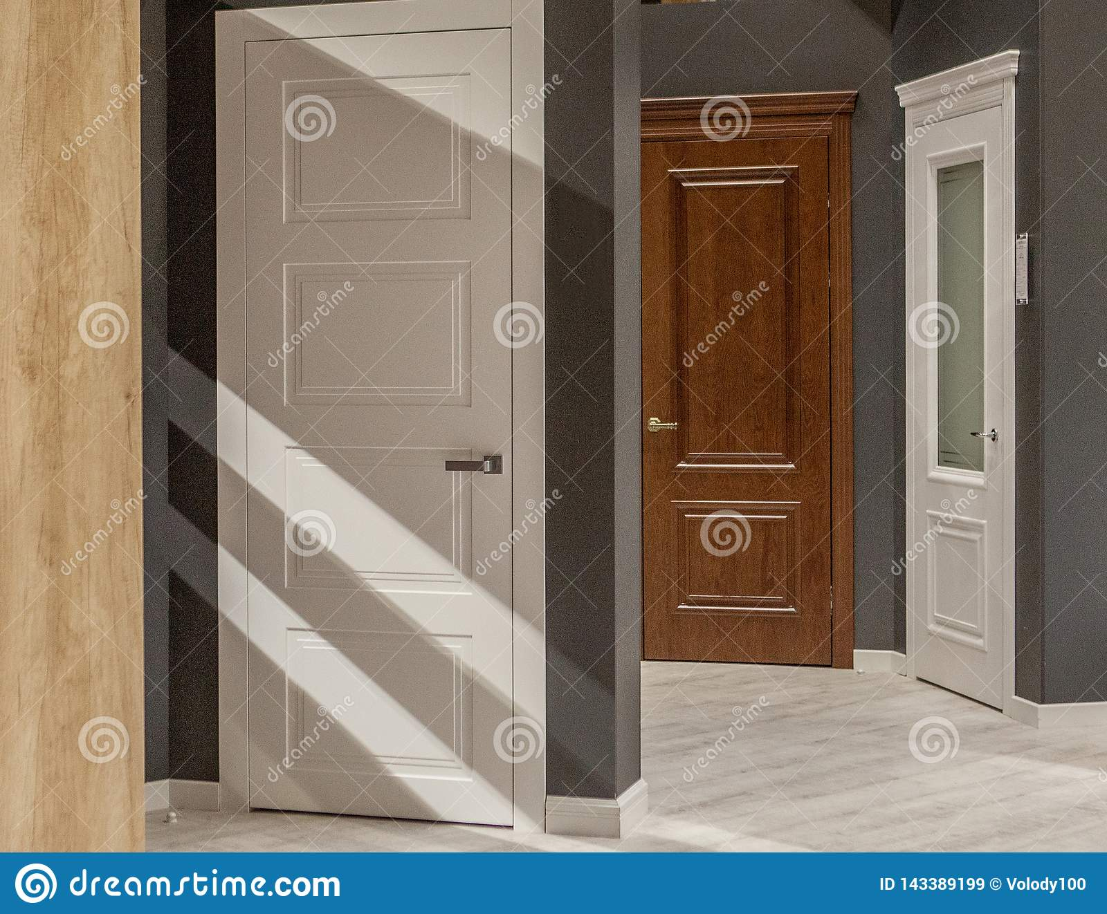 Interior Doors For Sale In A Specialized Store Stock Image Image Of Choice Business 143389199