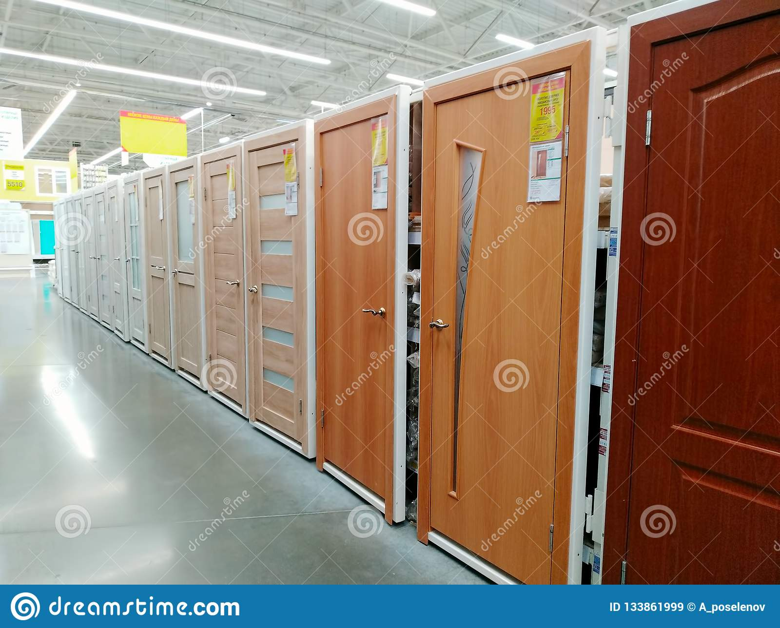 Interior Doors Are Sold In A Large Building Materials