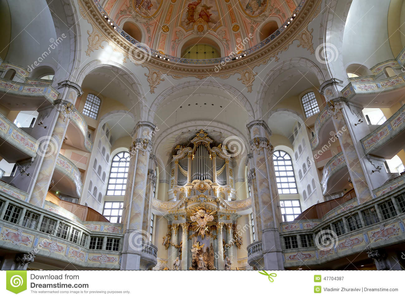 Interior Of The Dresden Frauenkirche Literally Church Of