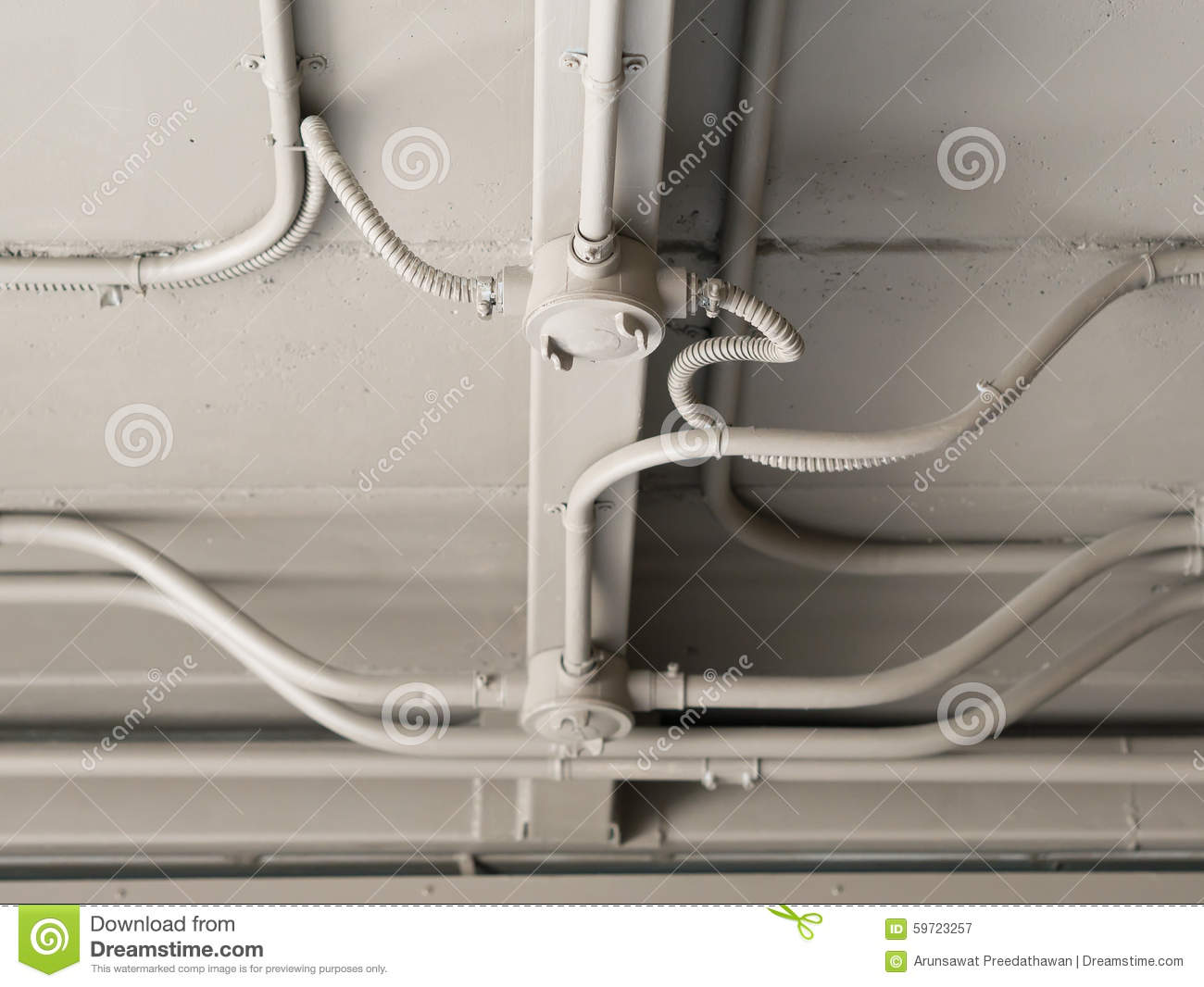 Incredible Interior Electrical Wiring Over Head Stock Image Image Of Wiring Cloud Usnesfoxcilixyz