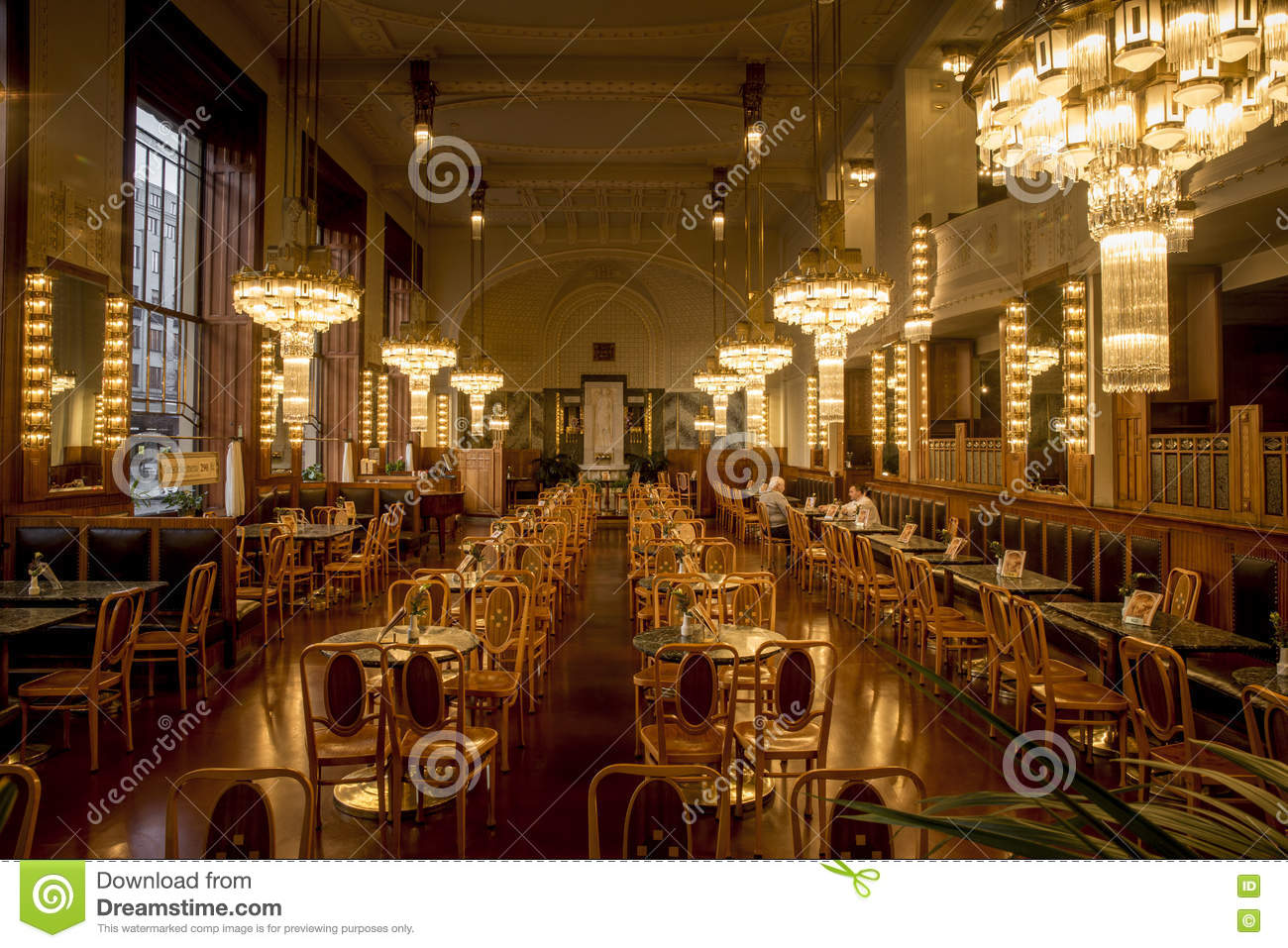 Interior Of Elegant Restaurant In Art Deco Style Prague Czech Republic Editorial Stock Photo Image Of Stylish Luxurious 76659568