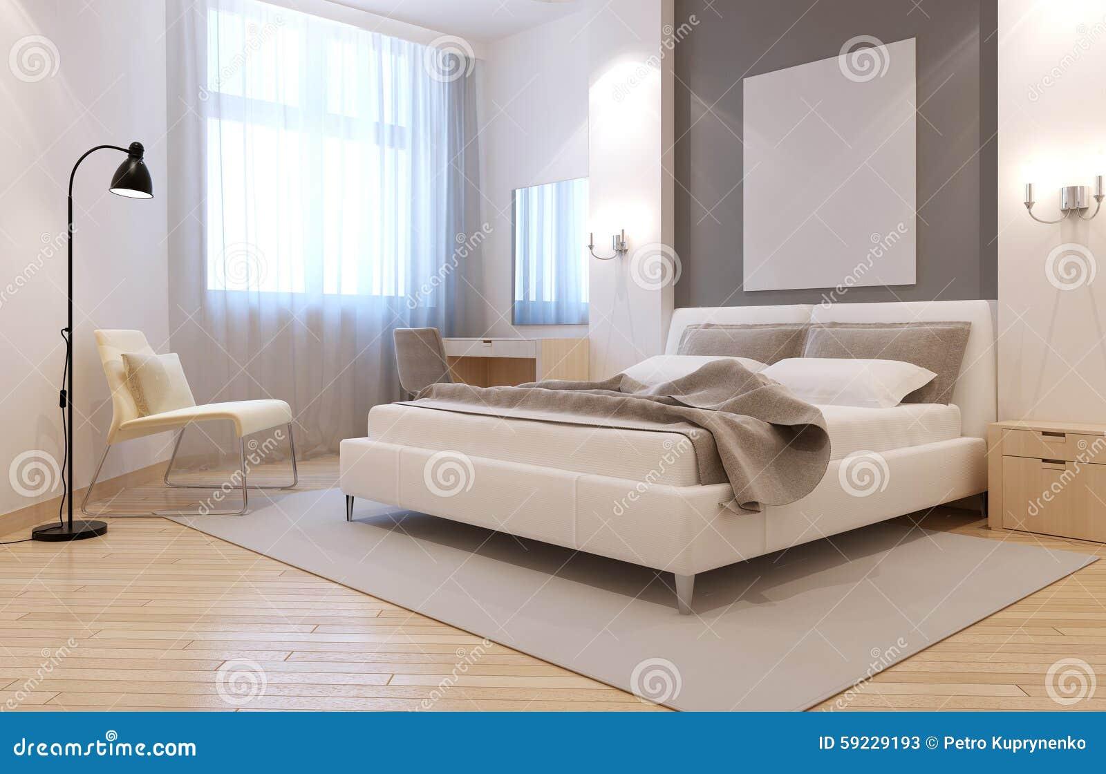 Download Interior Elegante Del Dormitorio Del Avangard Stock de ilustración - Ilustración de linóleo, gris: 59229193