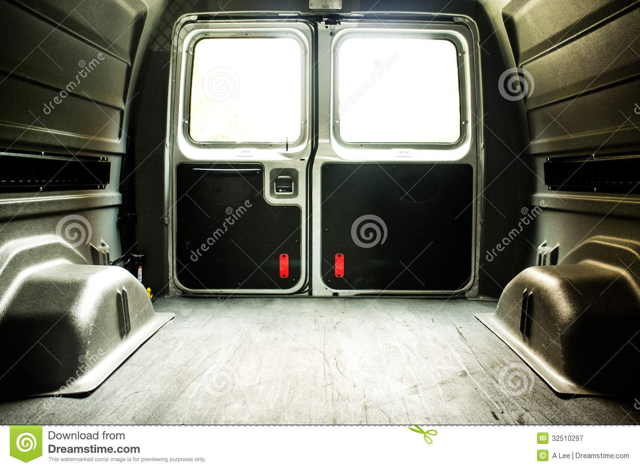 Interior Of An Empty Cargo Van Royalty Free Stock