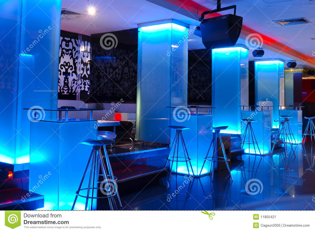 Interior of an empty nightclub stock image image 11805421 for Exterieur boite de nuit