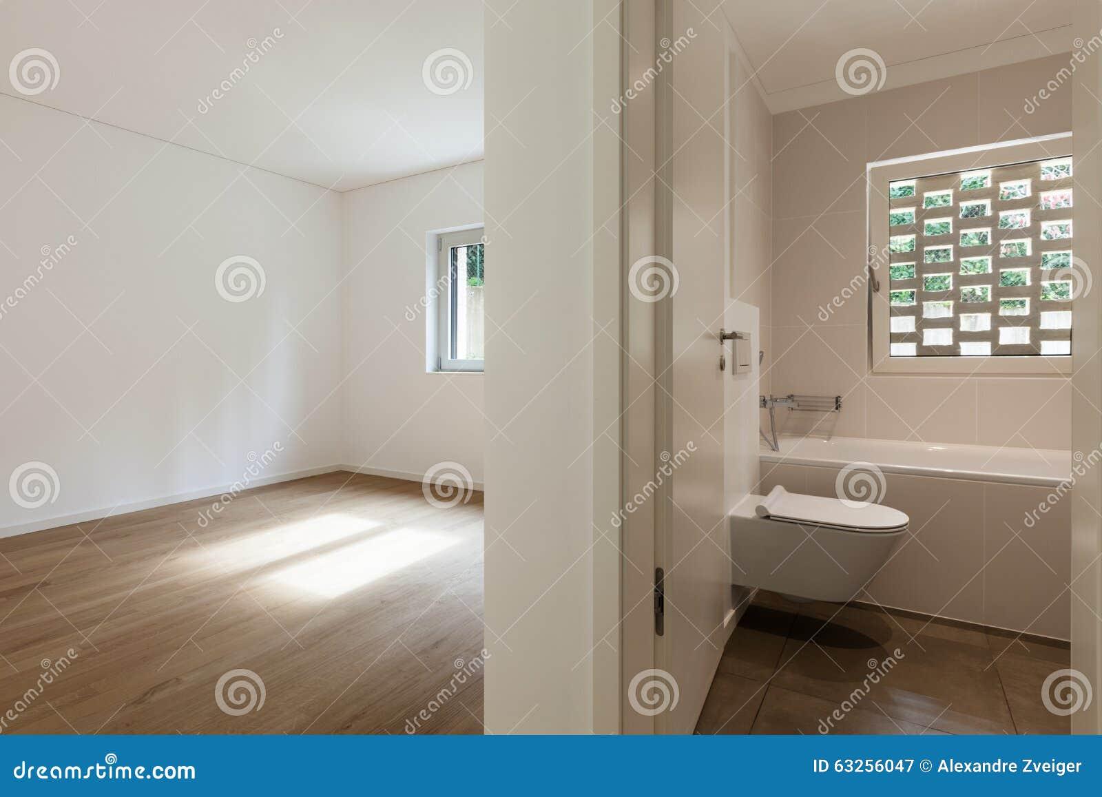 Empty Apartment Bathroom interior, empty room with bathroom stock photo - image: 63256047