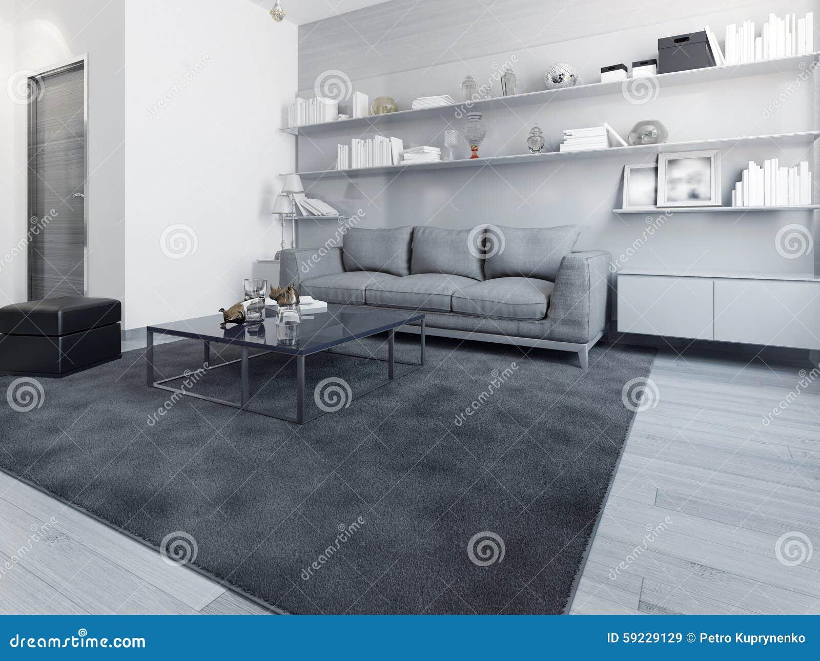 Download Interior Exclusivo Del Salón Contemporáneo Stock de ilustración - Ilustración de moderno, alfombra: 59229129