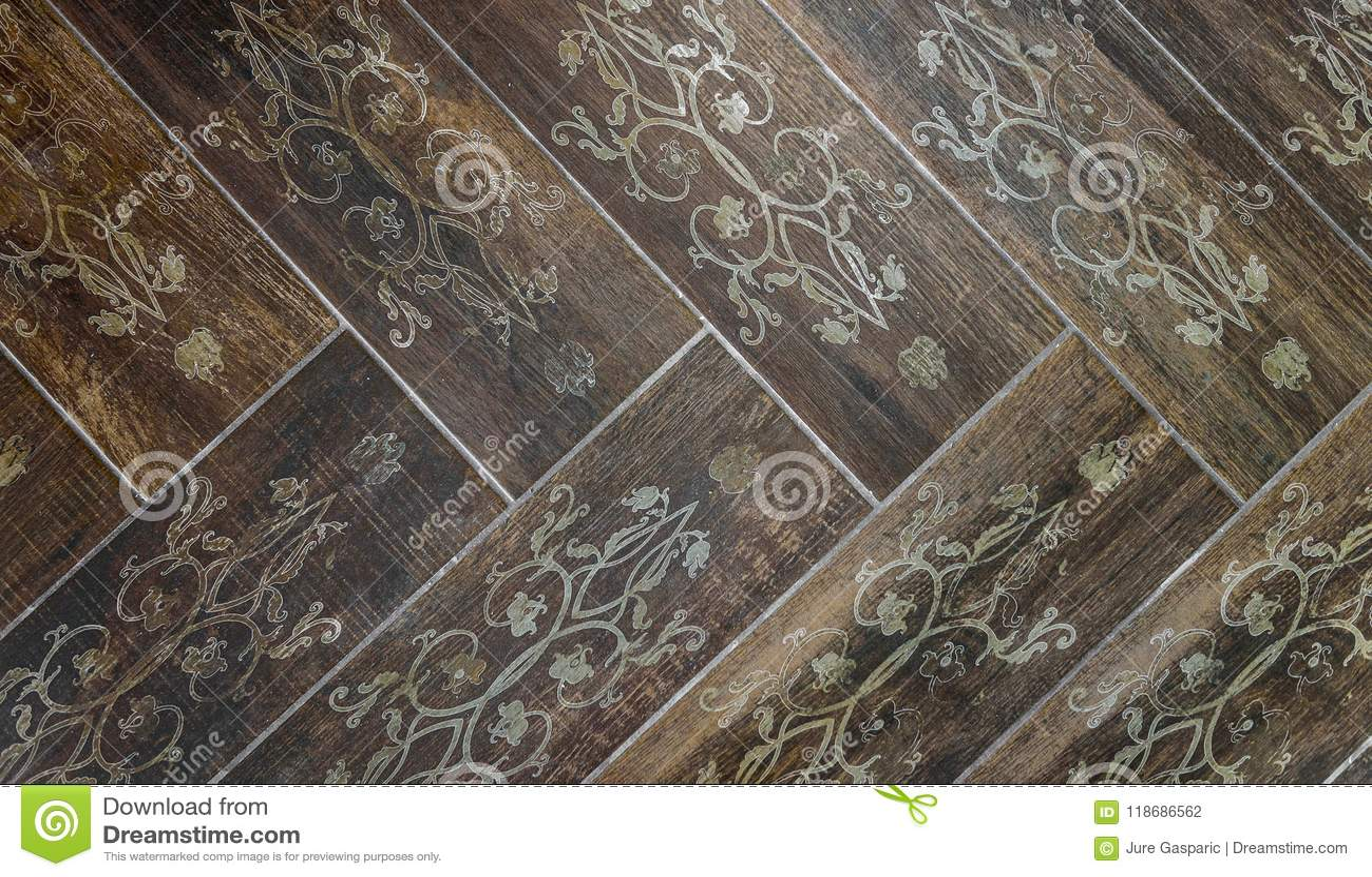 Vintage esagonale italiano piastrelle per pavimento foto