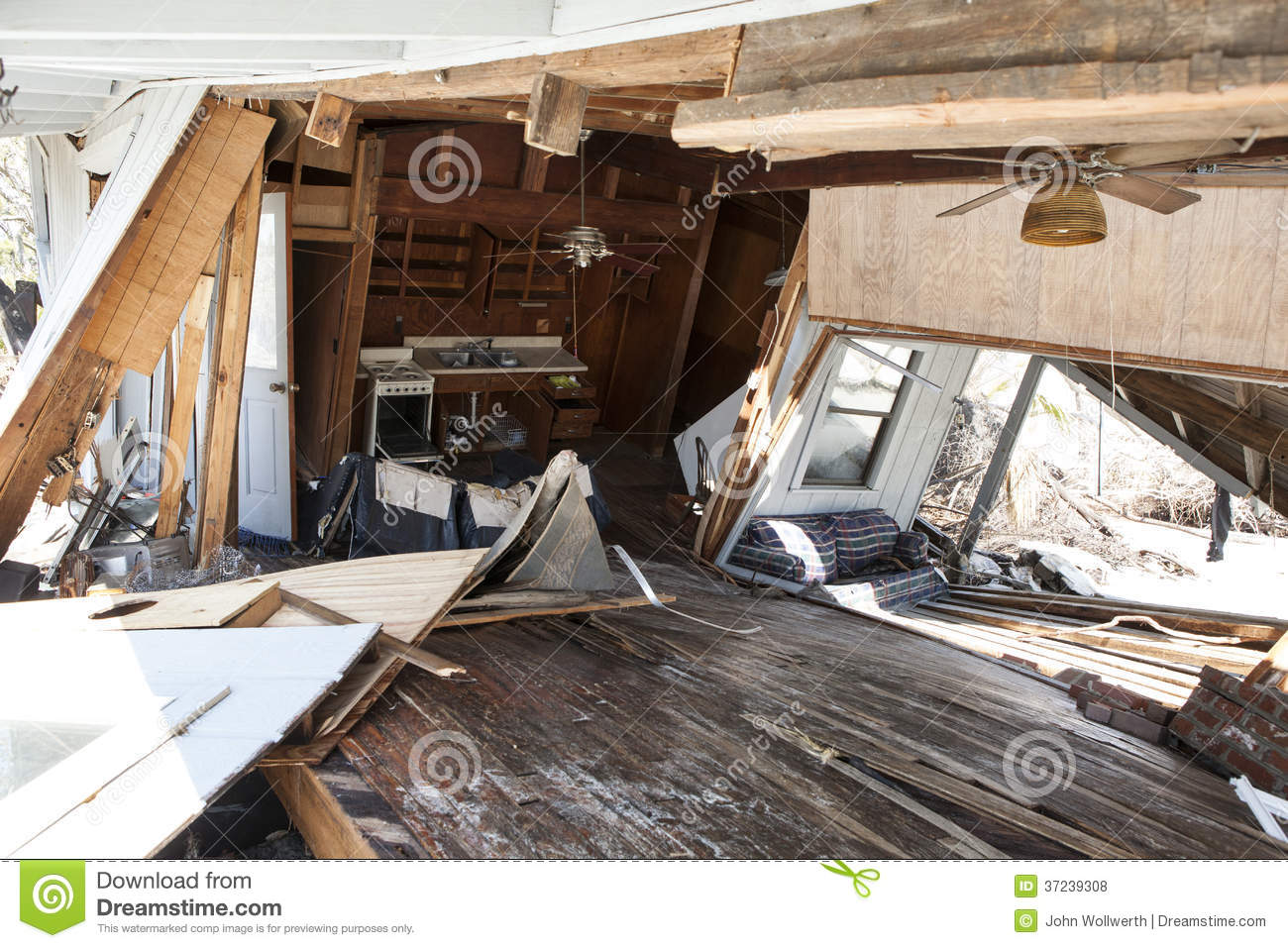 interior of flood damaged home royalty free stock photos image 37239308. Black Bedroom Furniture Sets. Home Design Ideas
