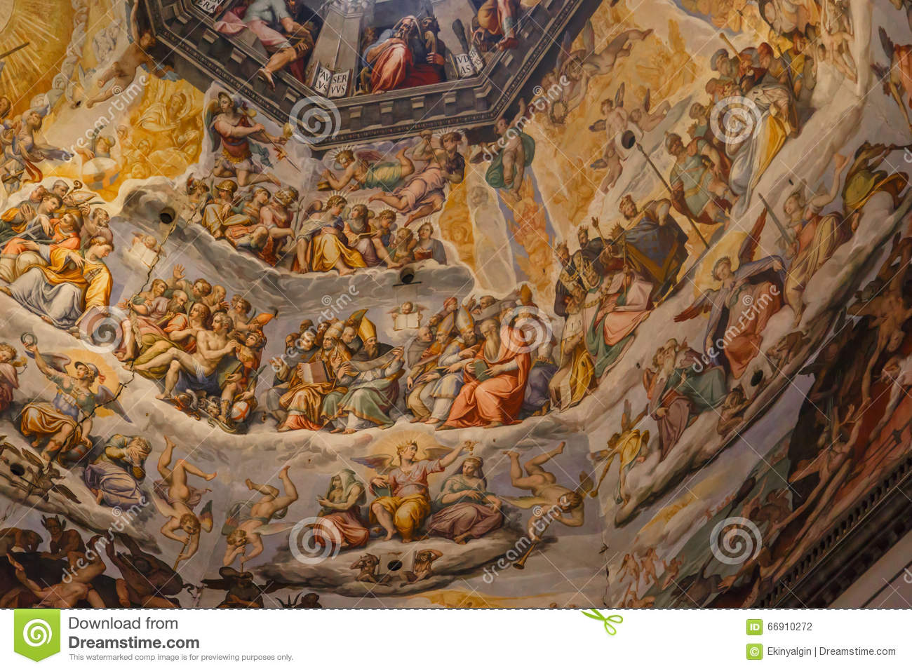 Famous Interior Paintings: Interior Florence Duomo Stock Photo. Image Of Church