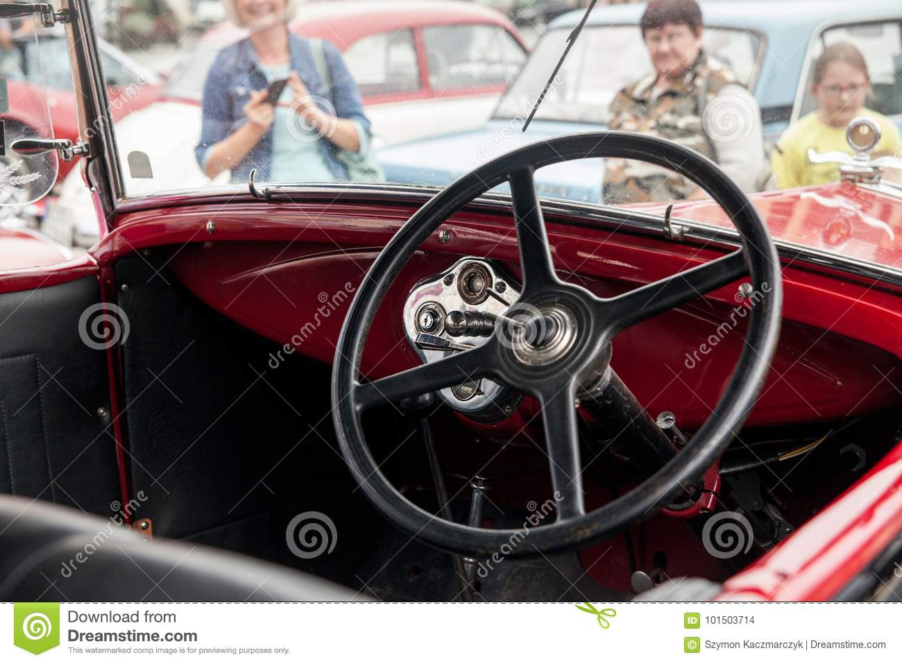 Interior Ford Inside View Retro Design Car Editorial Stock Image