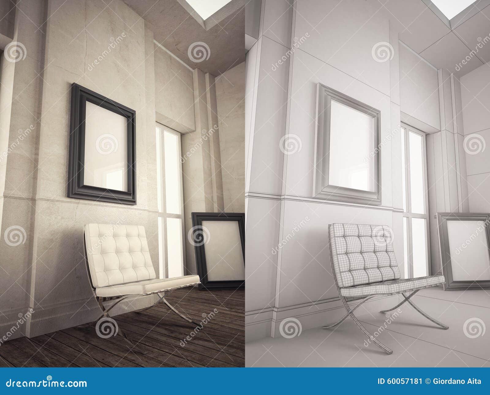 Interior Frame Mock Up Stock Illustration Illustration Of Mockup