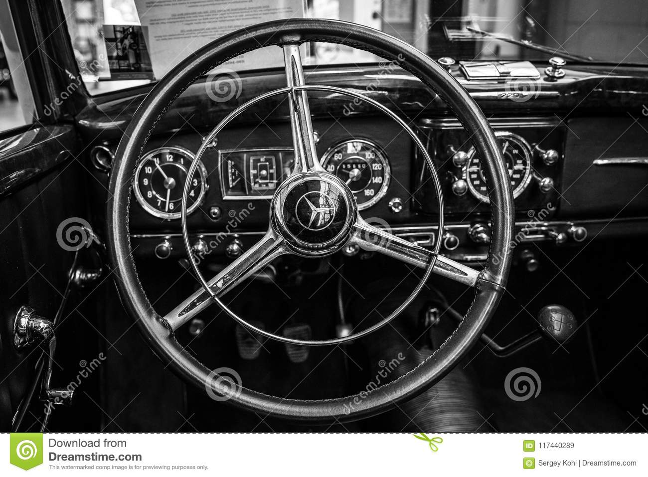 Interior Of A Full-size Luxury Car Mercedes-Benz 220 ...