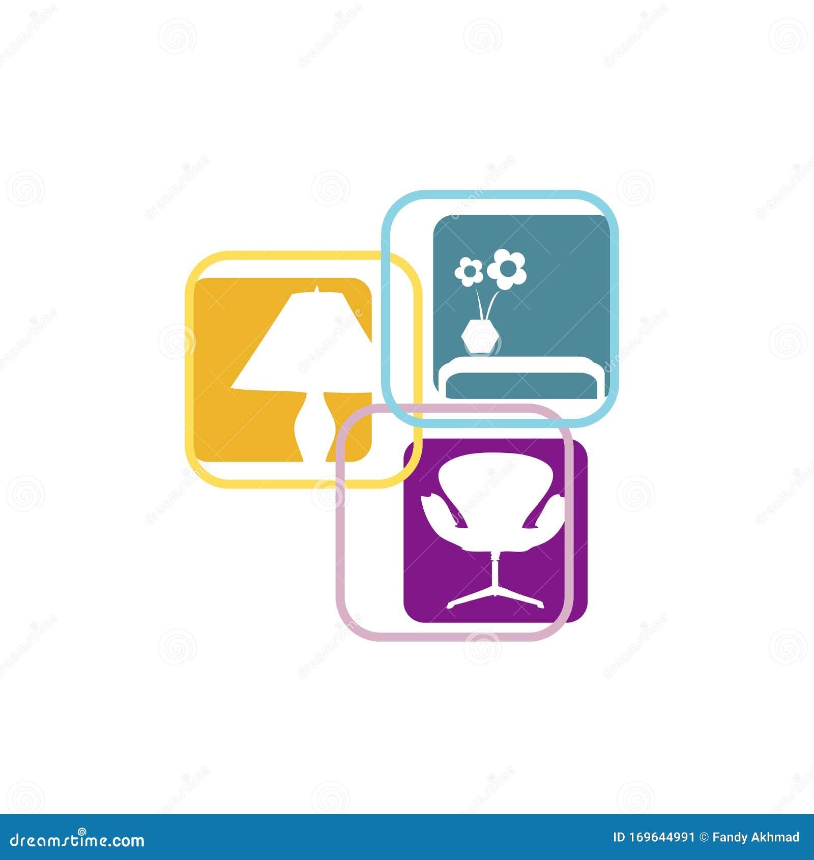 Interior Furnishings Furniture Logo Design Vector Symbol ...