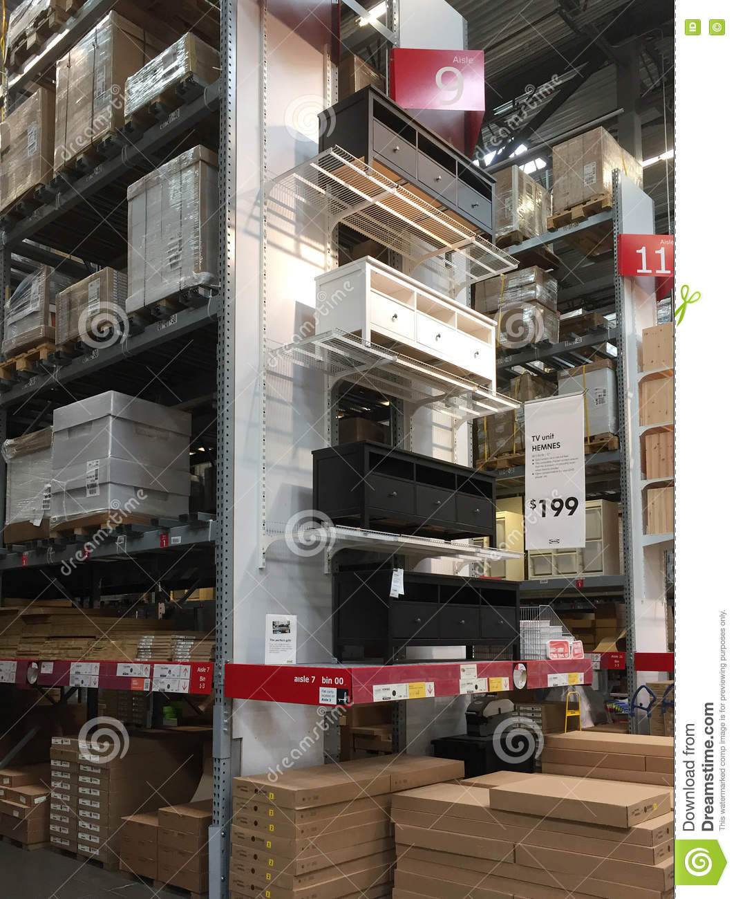 Furniture Stores Usa: Interior Of Furniture Store IKEA Editorial Stock Photo
